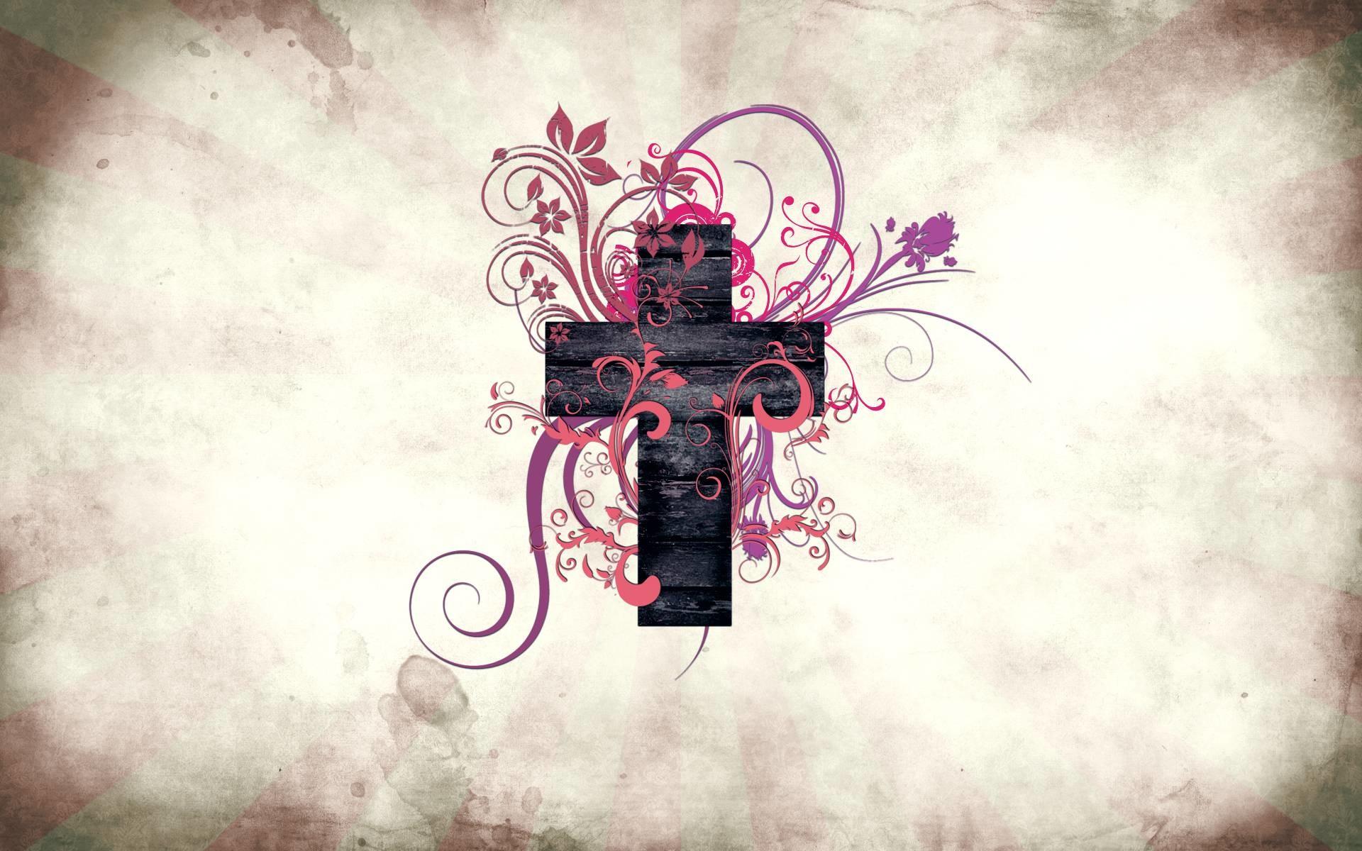 Abstract Art Cross Desktop Free Wallpaper