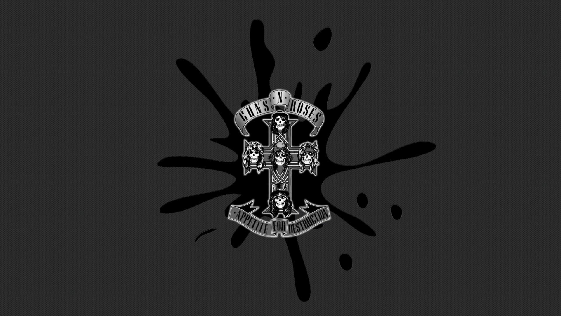 Wallpaper guns n roses, spot, cross, darkness, skulls