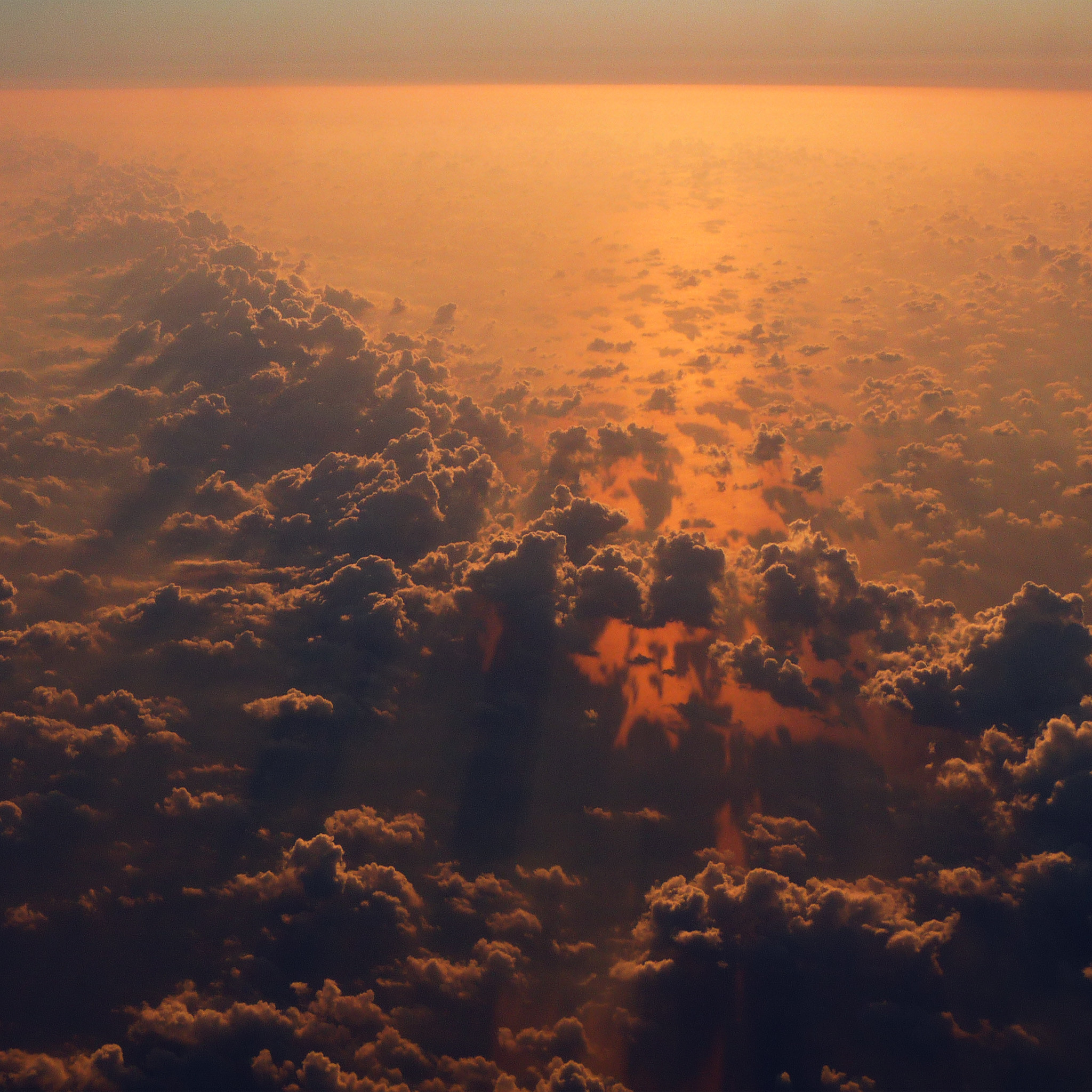 813 0: Cloud Nine Sky Fly Sunset Red Nature iPad Air wallpaper