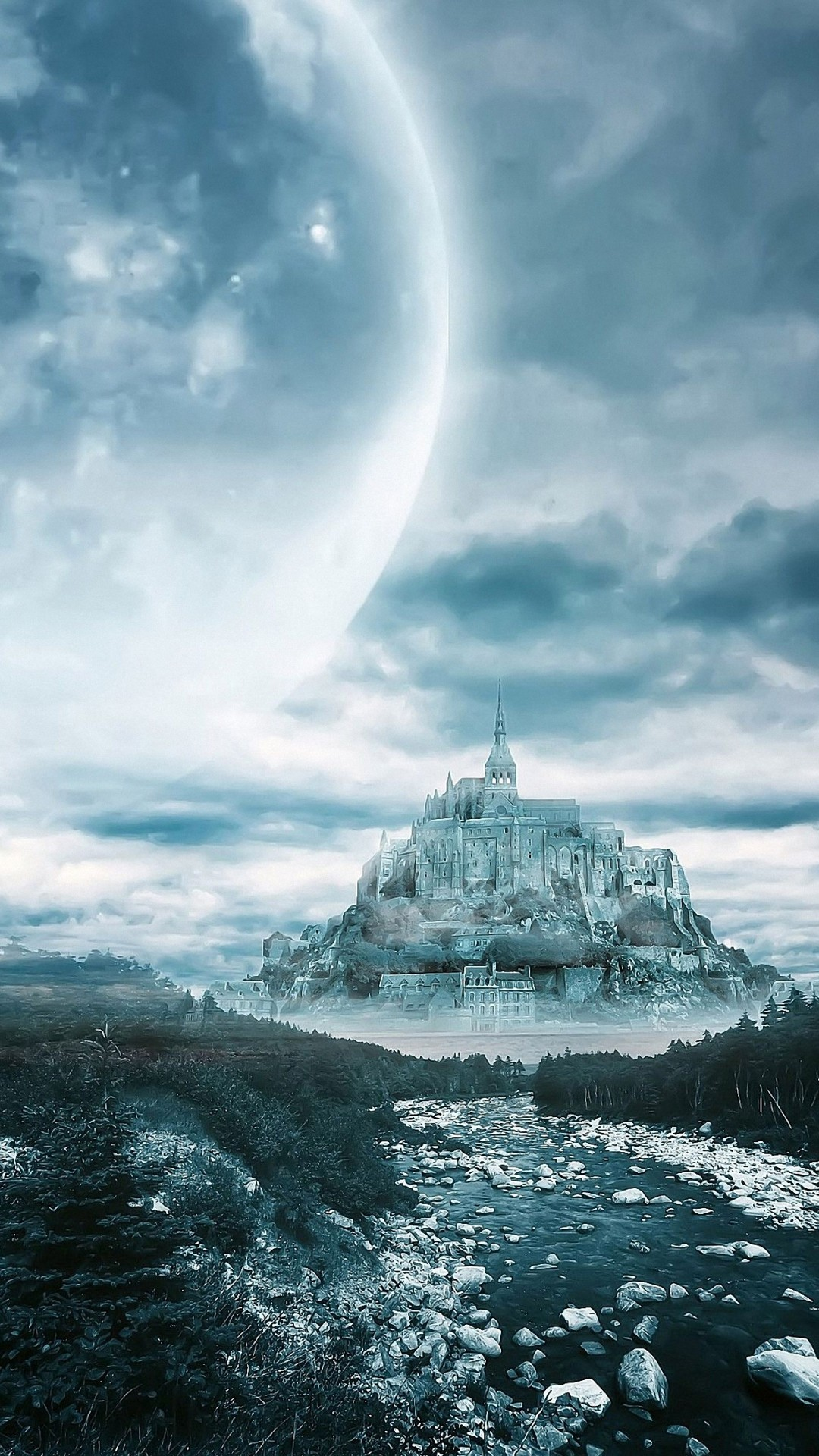 dream moon castle iphone 6 wallpapers HD