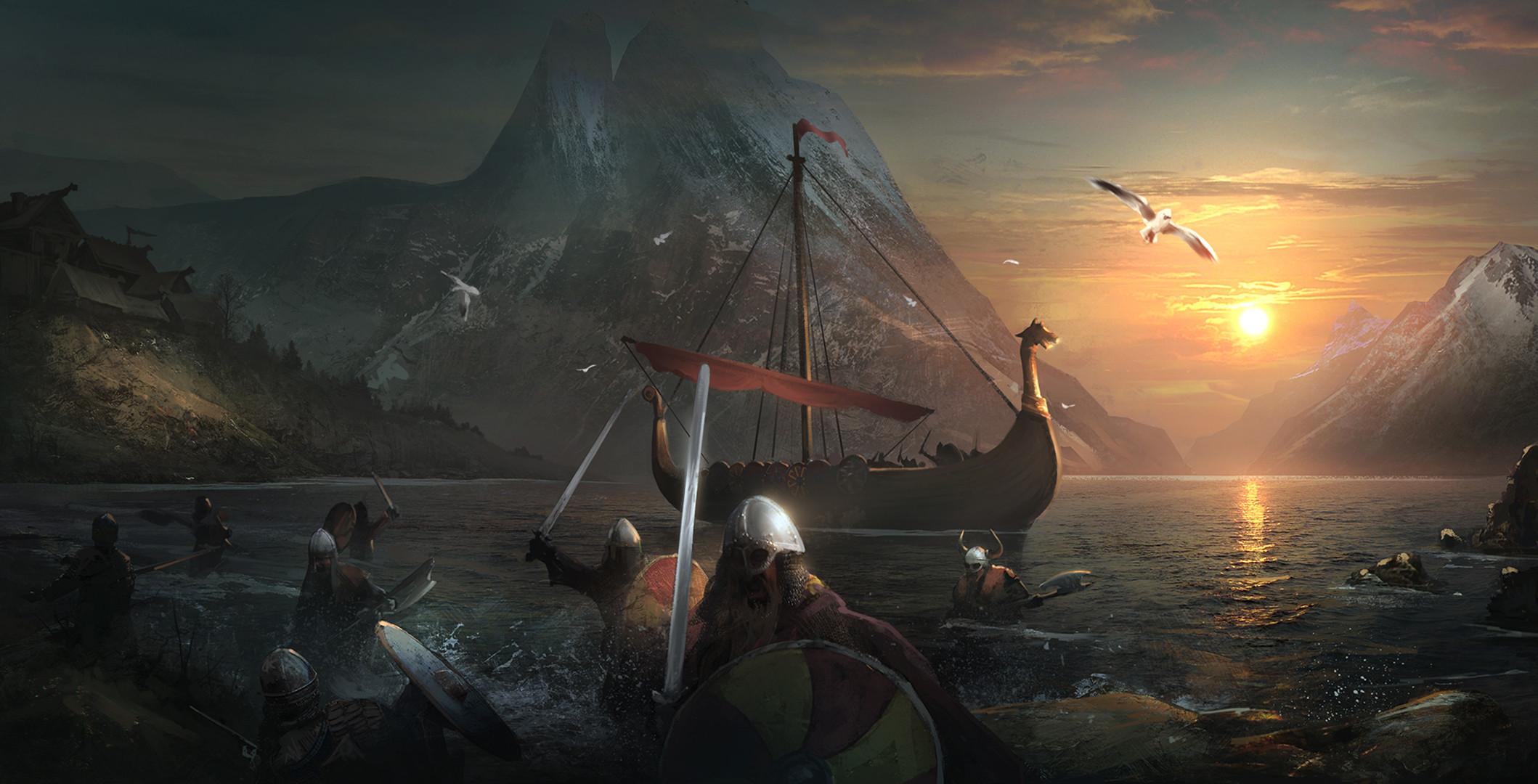 Axe Helmet Sword Viking Warrior · HD Wallpaper   Background ID:709734