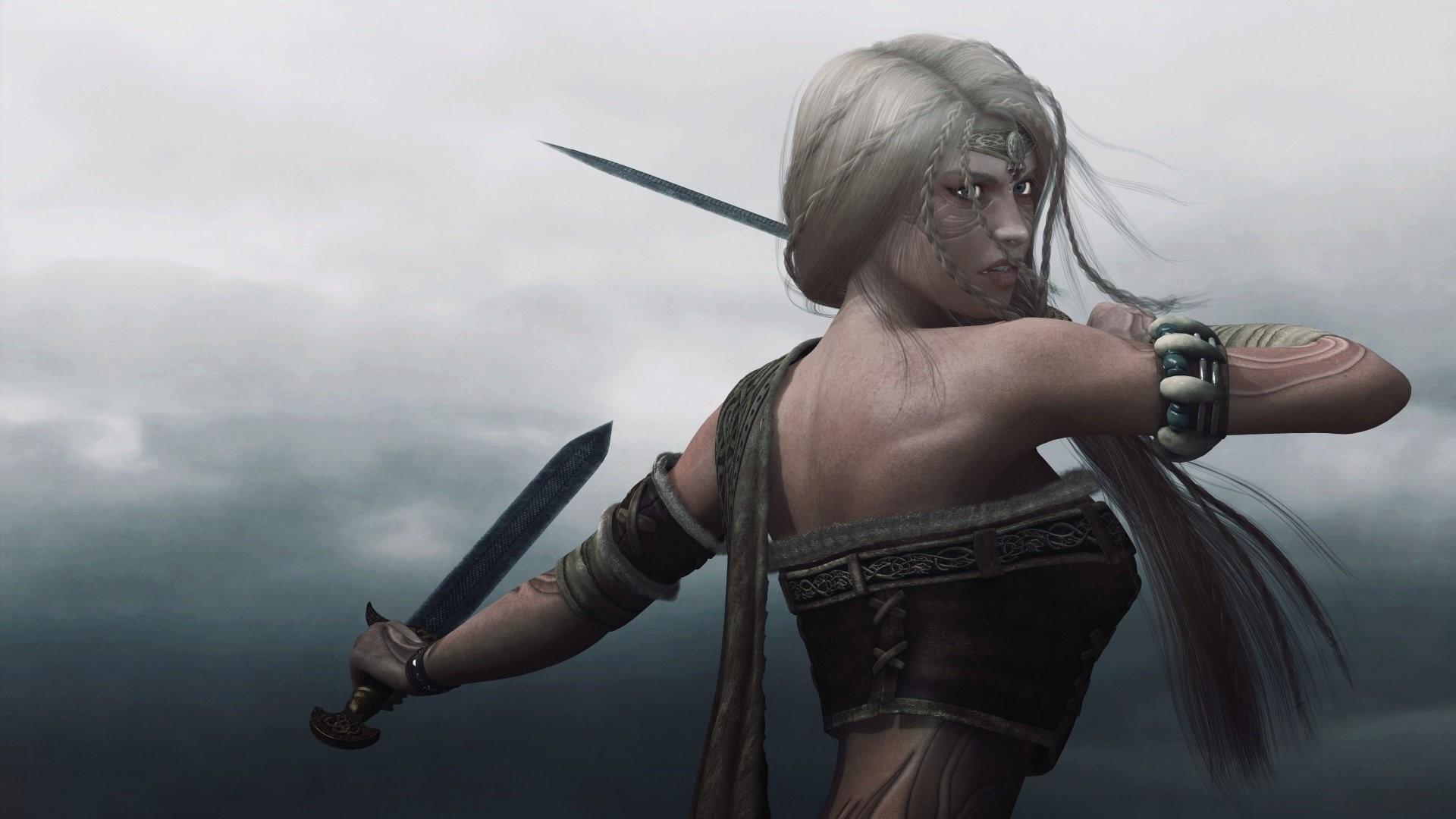 VIKING WOMAN – girl warrior swords tattoo wallpaper     492363    WallpaperUP