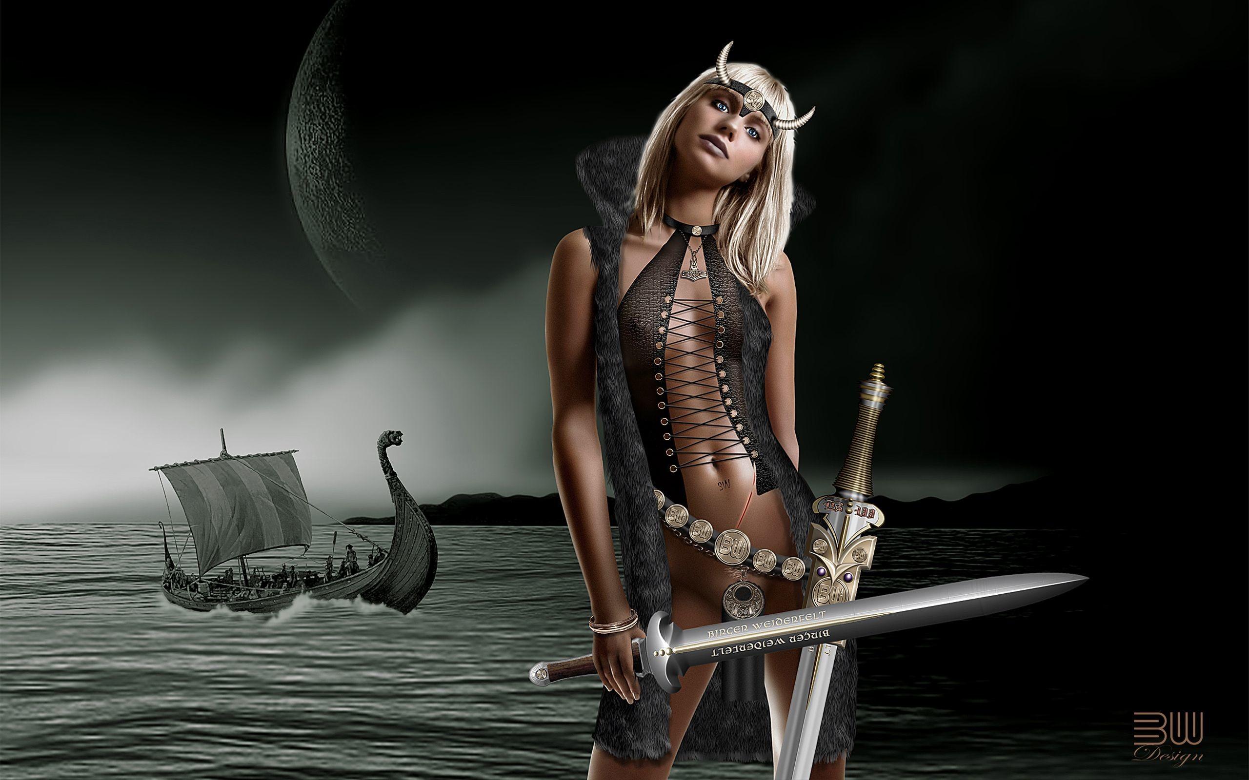 viking woman Wallpaper Background   26526