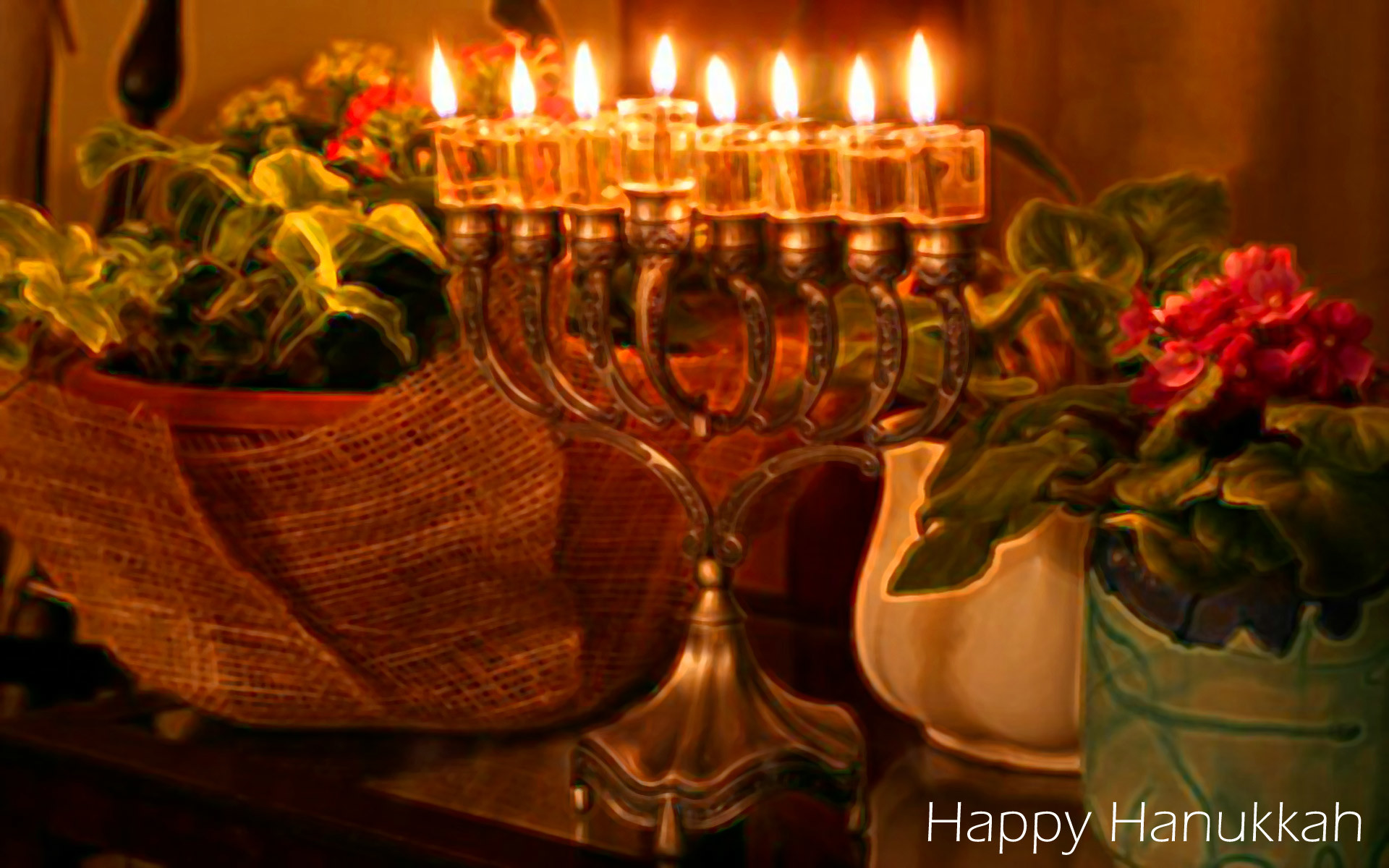 Happy Hanukkah Desktop Background
