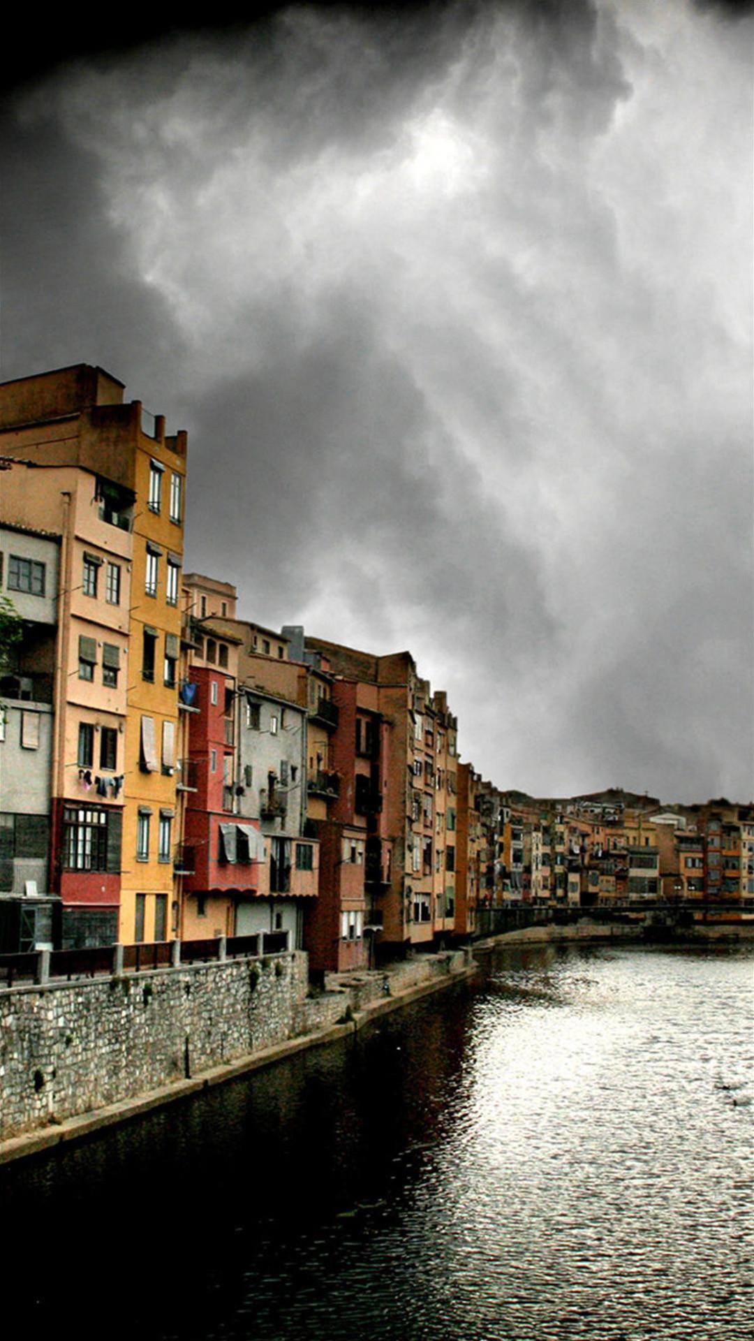 Spain Girona Jewish Neighborhood iPhone 7 Plus HD Wallpaper