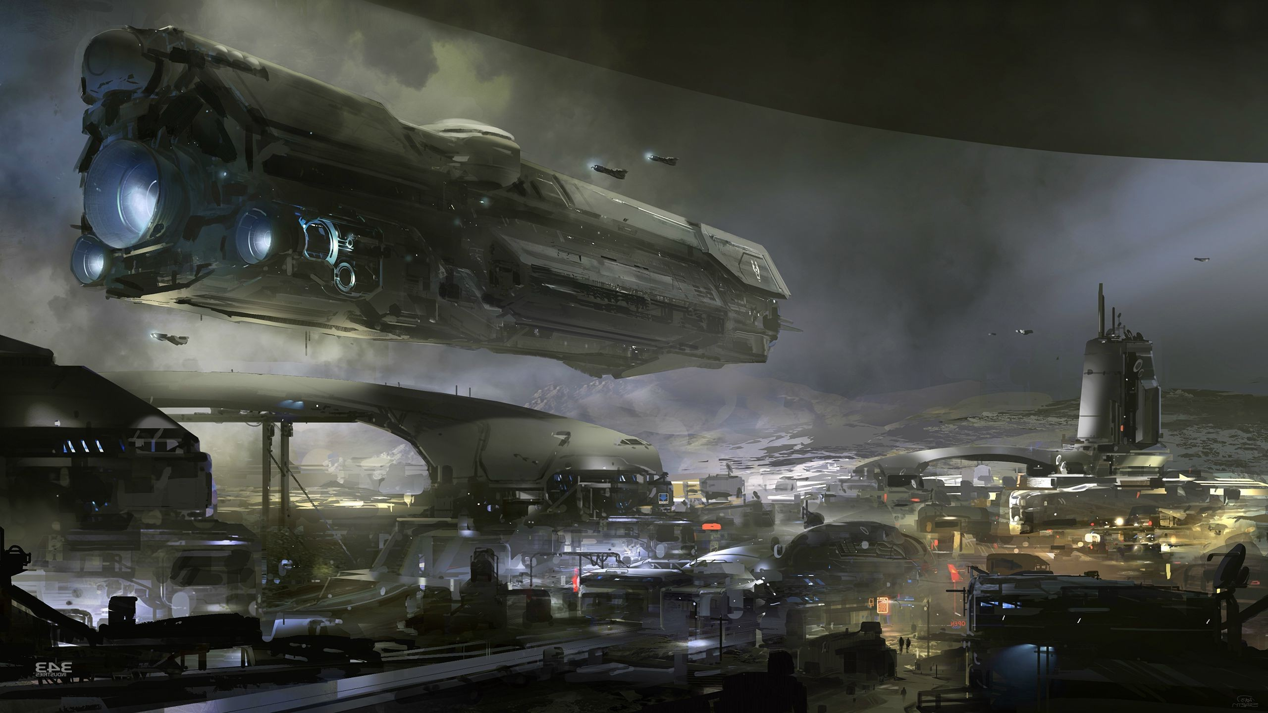 Halo, Spaceship, UNSC Infinity, Digital Art Wallpapers HD / Desktop and  Mobile Backgrounds