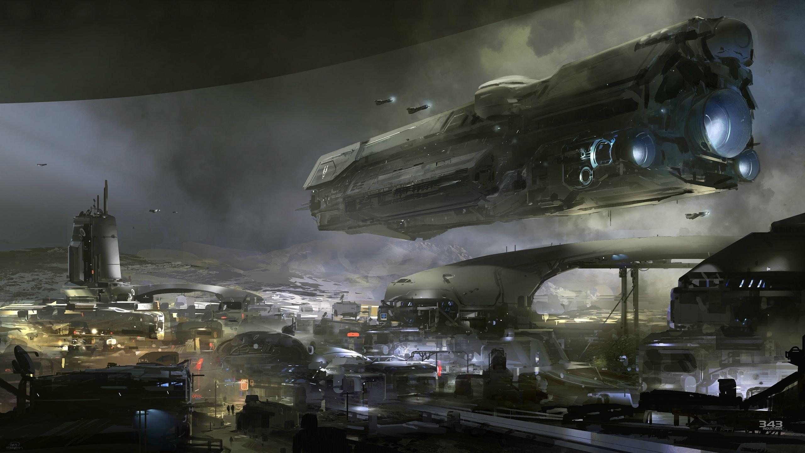 Halo Spaceships UNSC Infinity Digital Art