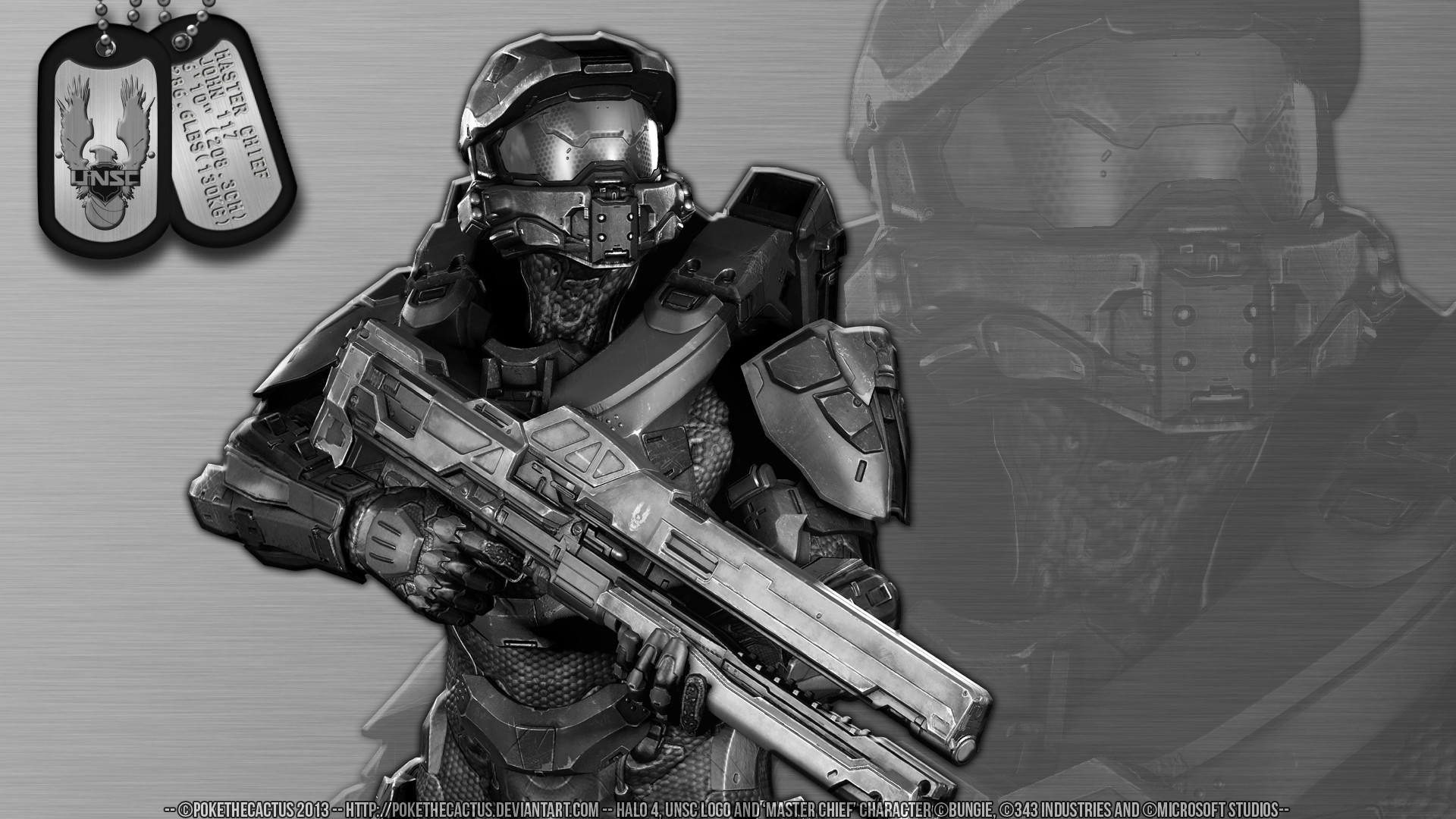 … Stainless Steel /// Master Chief – HD Wallpaper by PokeTheCactus