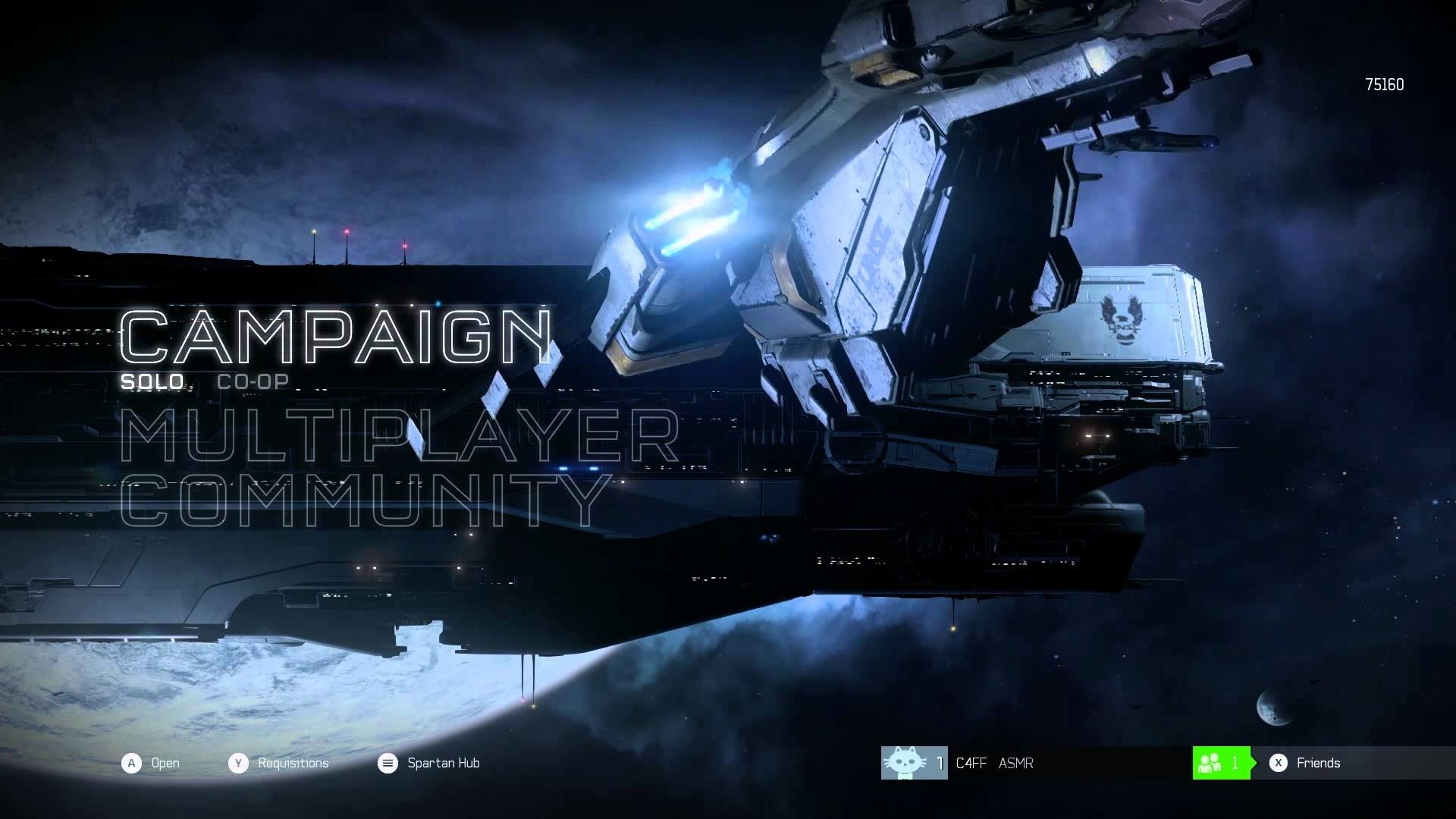 10 Hours Of Halo 5 Guardians – UNSC Space – (Title Screen UNSC Infinity –  Effects Only) – YouTube