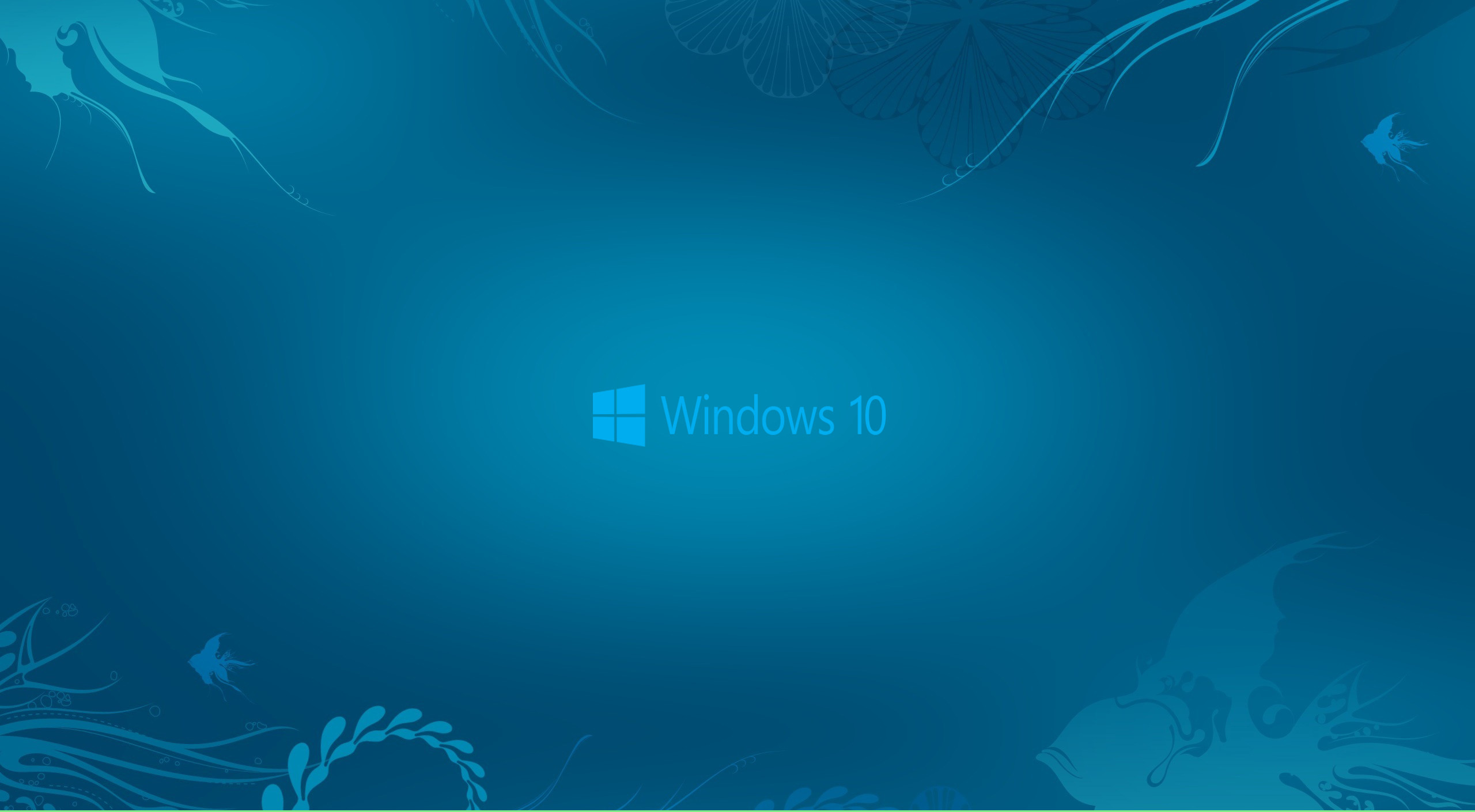 Windows 10 Wallpaper in Abstract Deep Blue See and New Logo | HD .