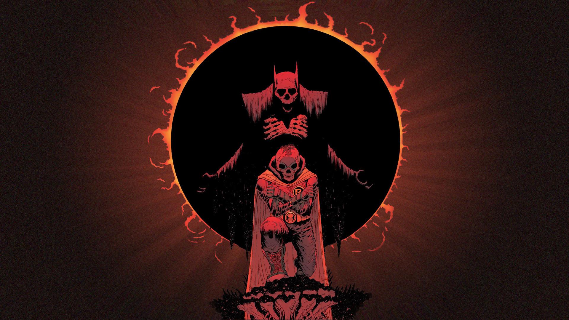 Comics – Batman Dark Demon Skull Evil Robin (Batman) Wallpaper