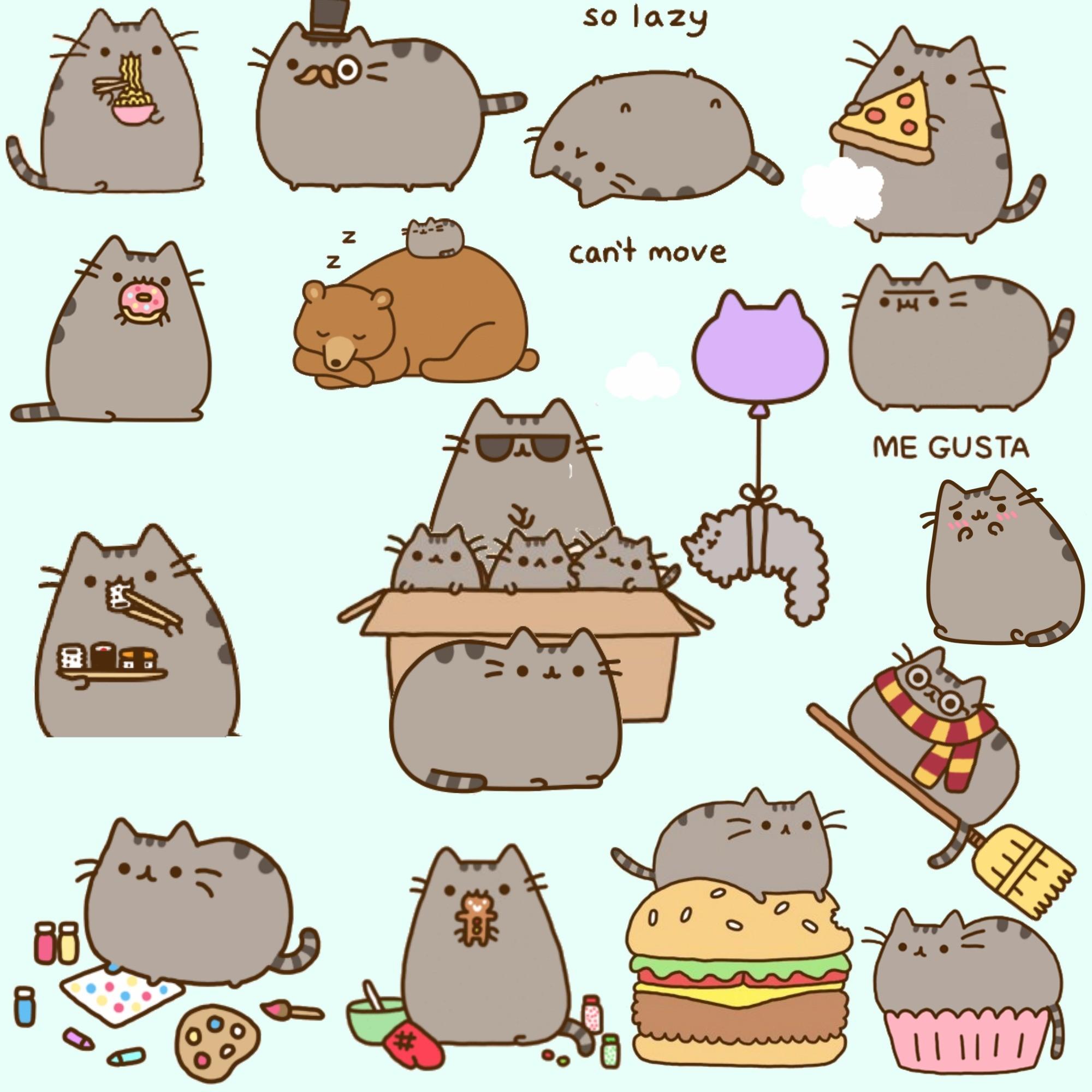 cats cute japan japanese kawaii pusheen collage all rights belong
