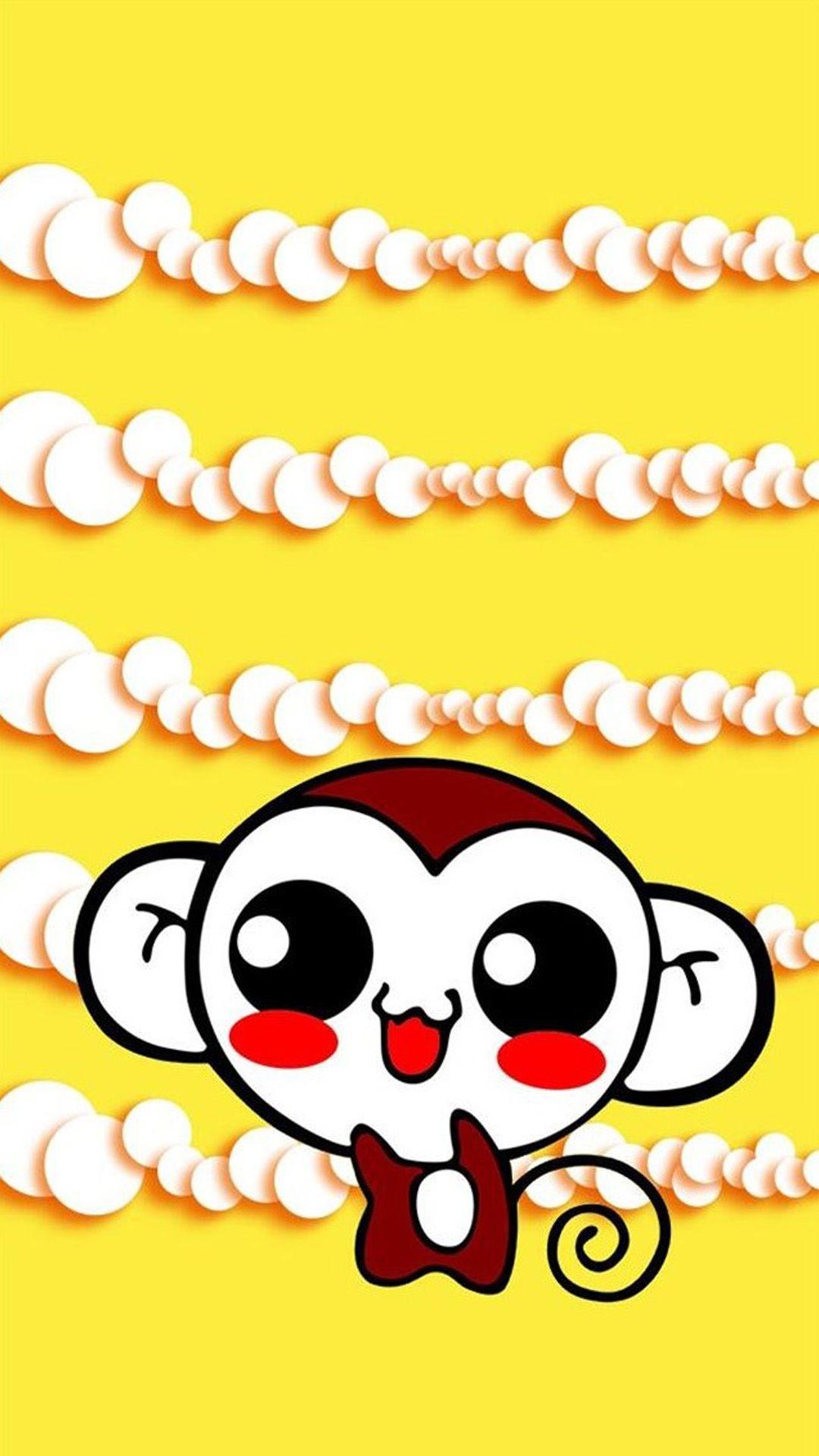 Cute Sweet Hippie Monkey iPhone 6 Wallpaper Download