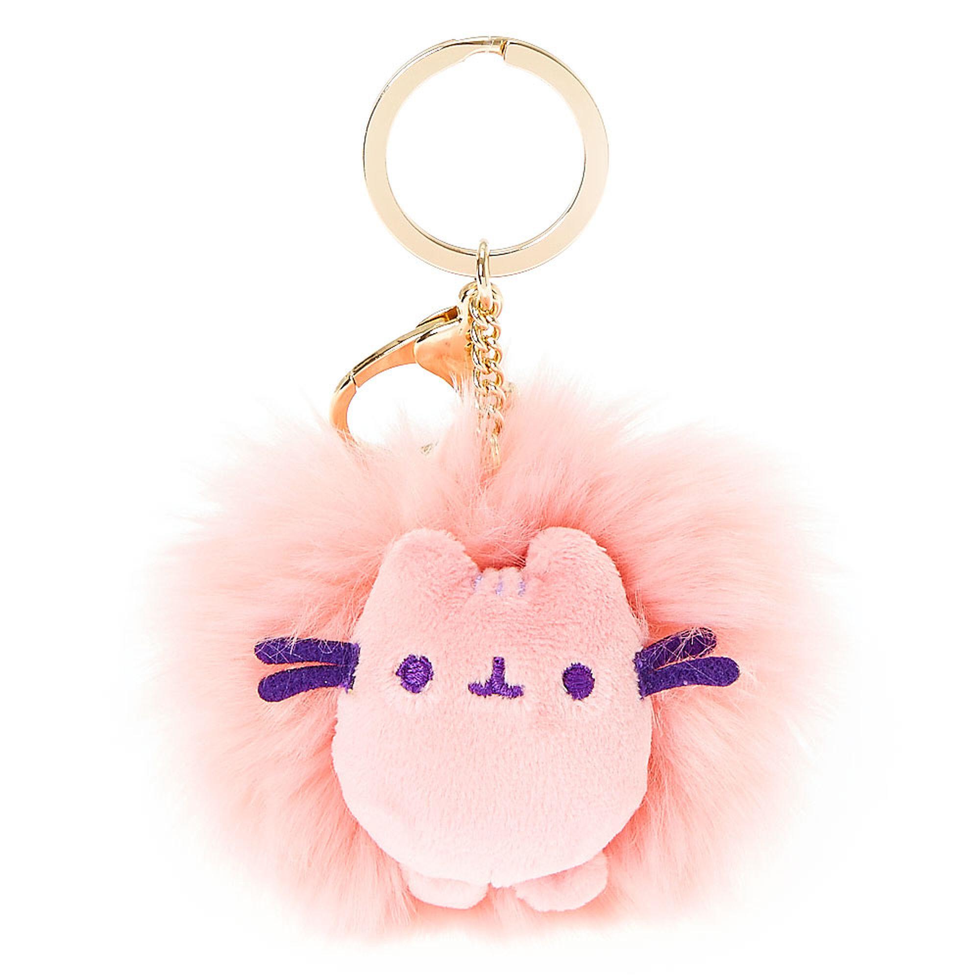 Pink Pusheen Pom Pom Keychain
