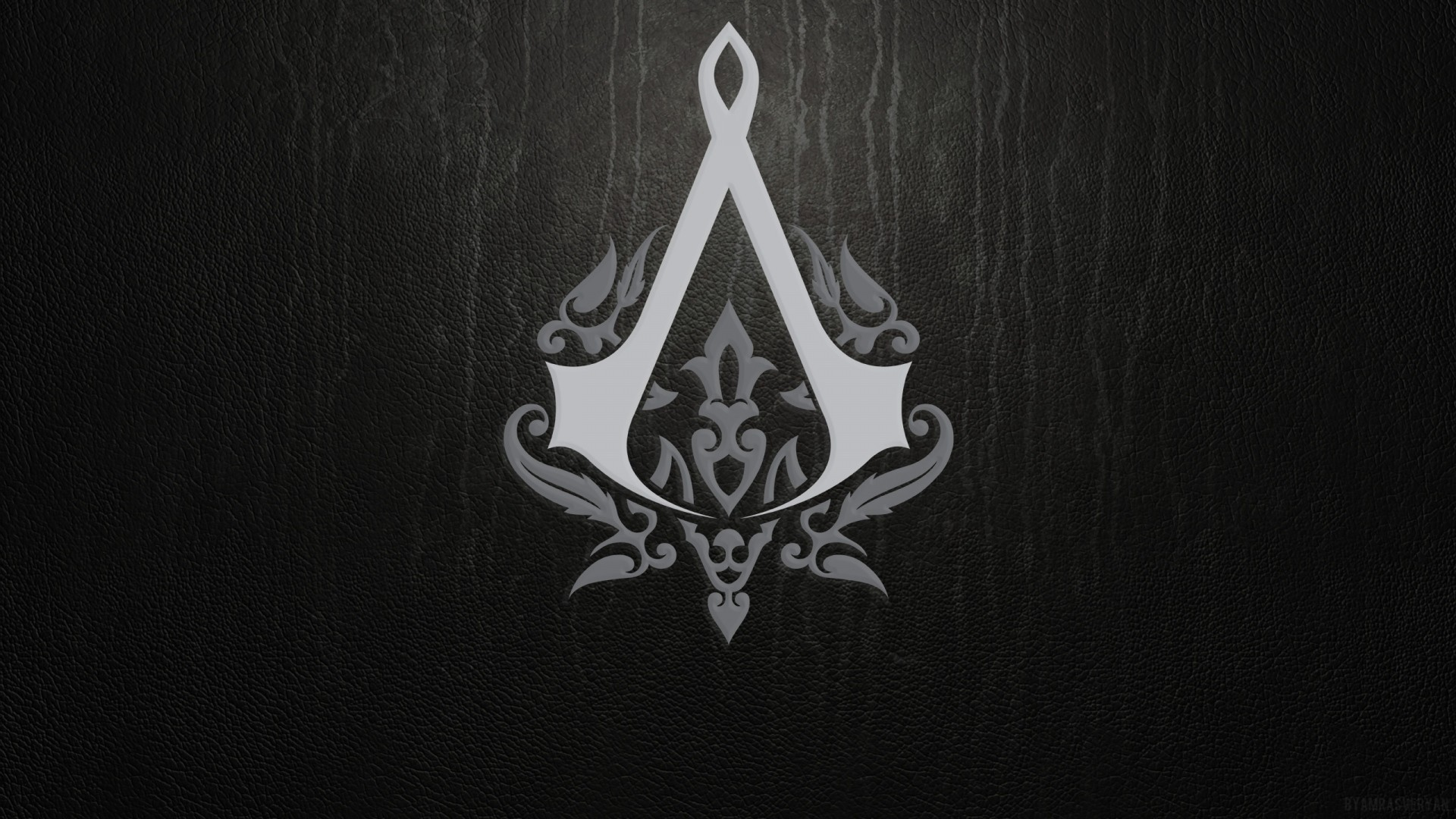 Preview wallpaper assassins creed, emblem, background, sign 1920×1080