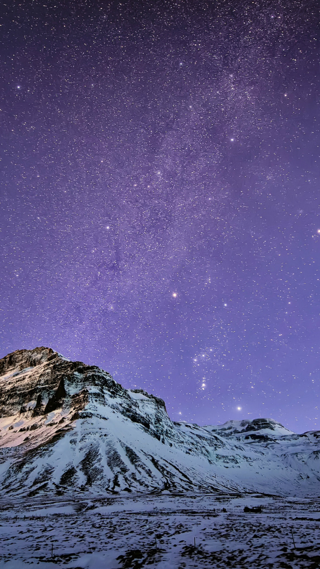 Snow Mountain Stars Skyscape #iPhone #7 #wallpaper
