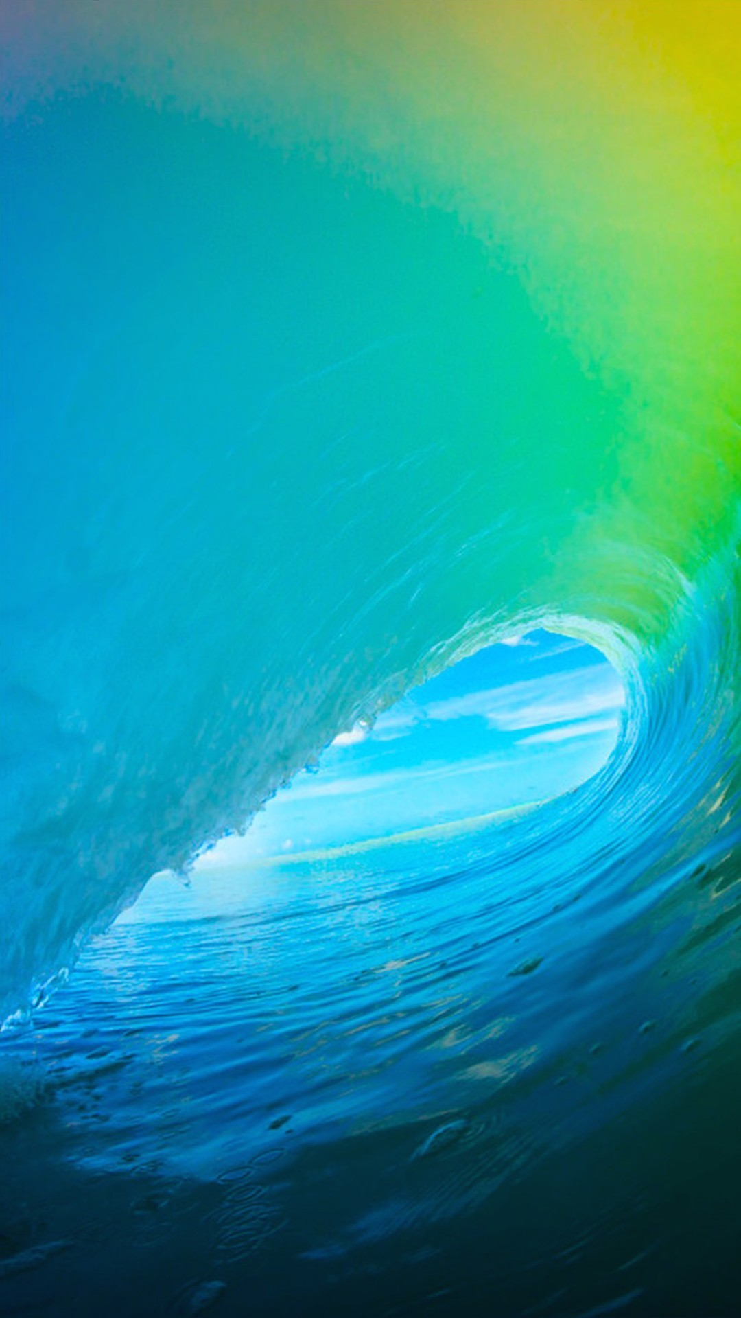 iOS 9 Colorful Surf Wave iPhone 6+ HD Wallpaper