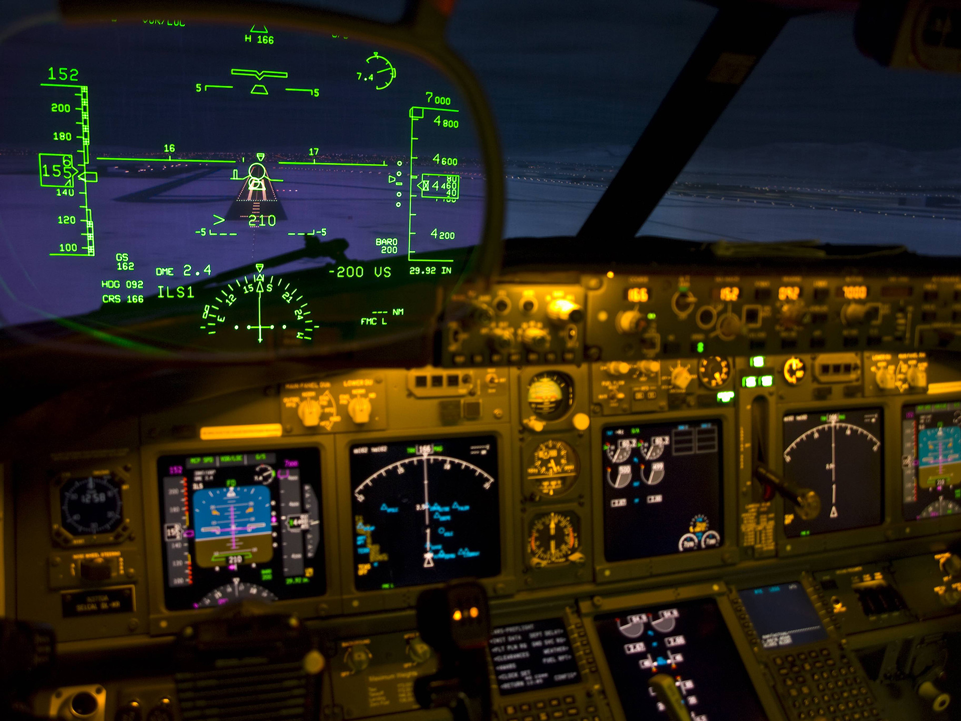Heads-Up Display Cockpit airplane military wallpaper background