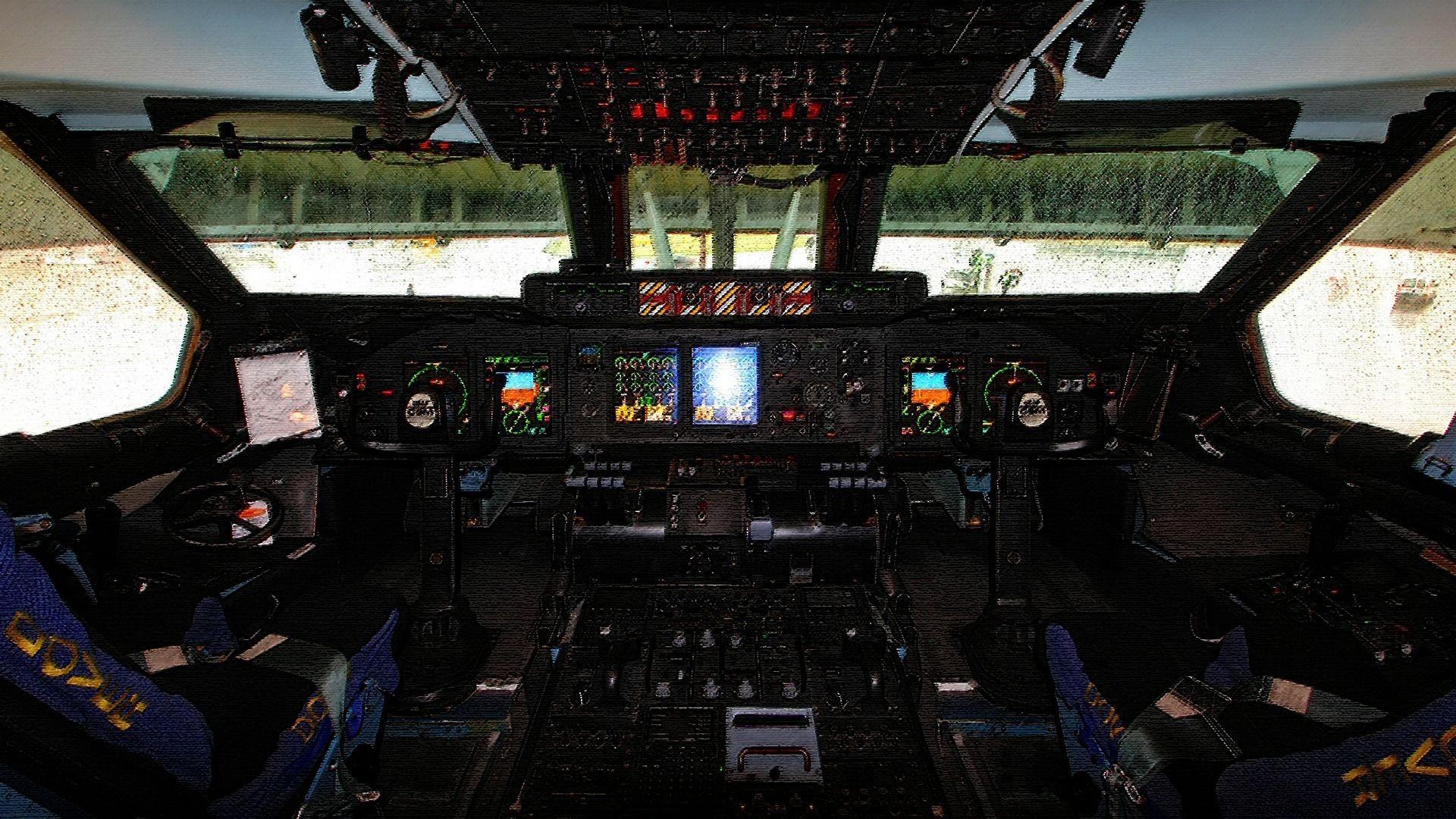 Airplane Cockpit Desktop Wallpaper Wallpapersafari