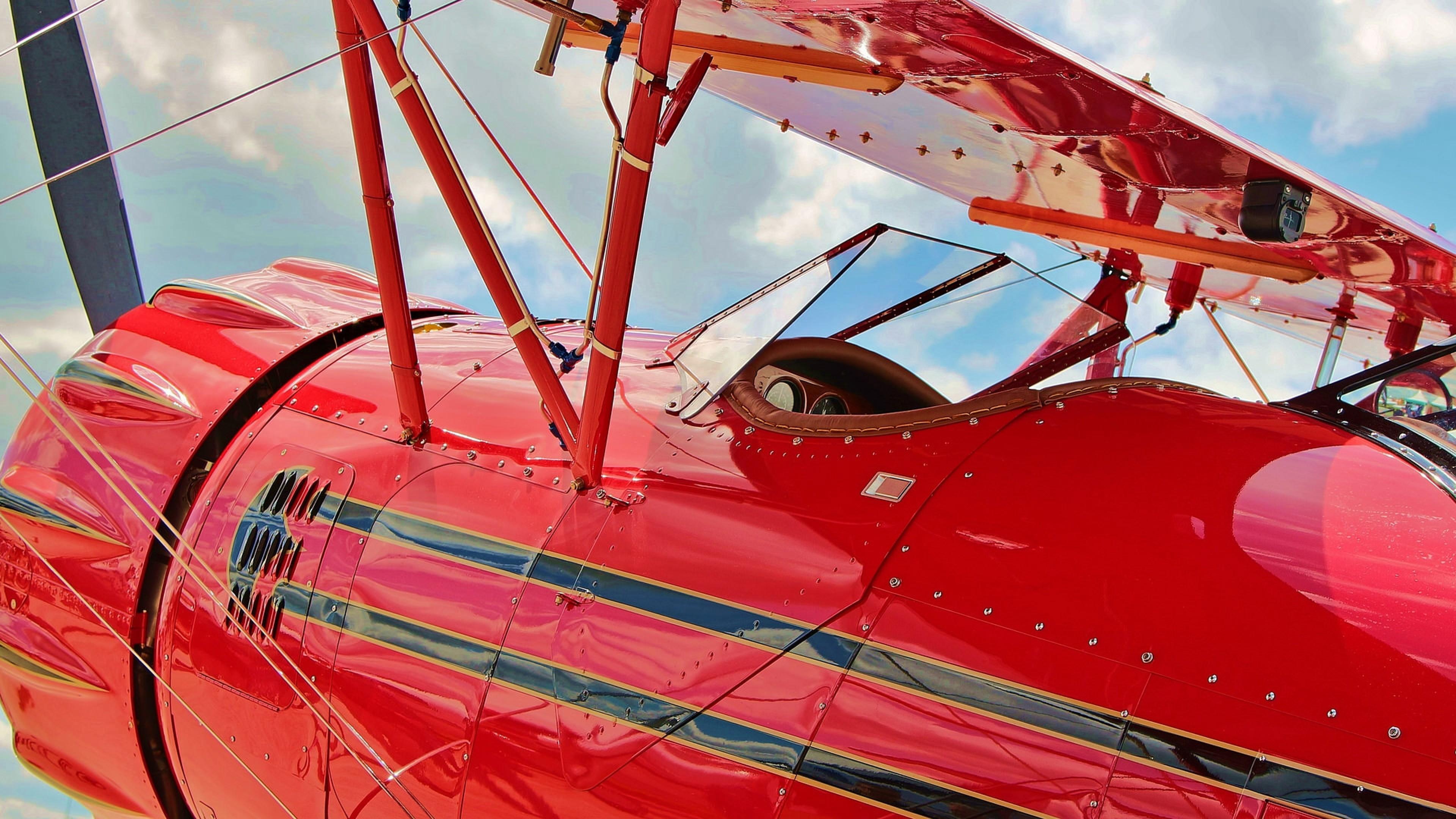 Preview wallpaper waco, ymf-5c, airplane, biplane, cockpit 3840×2160