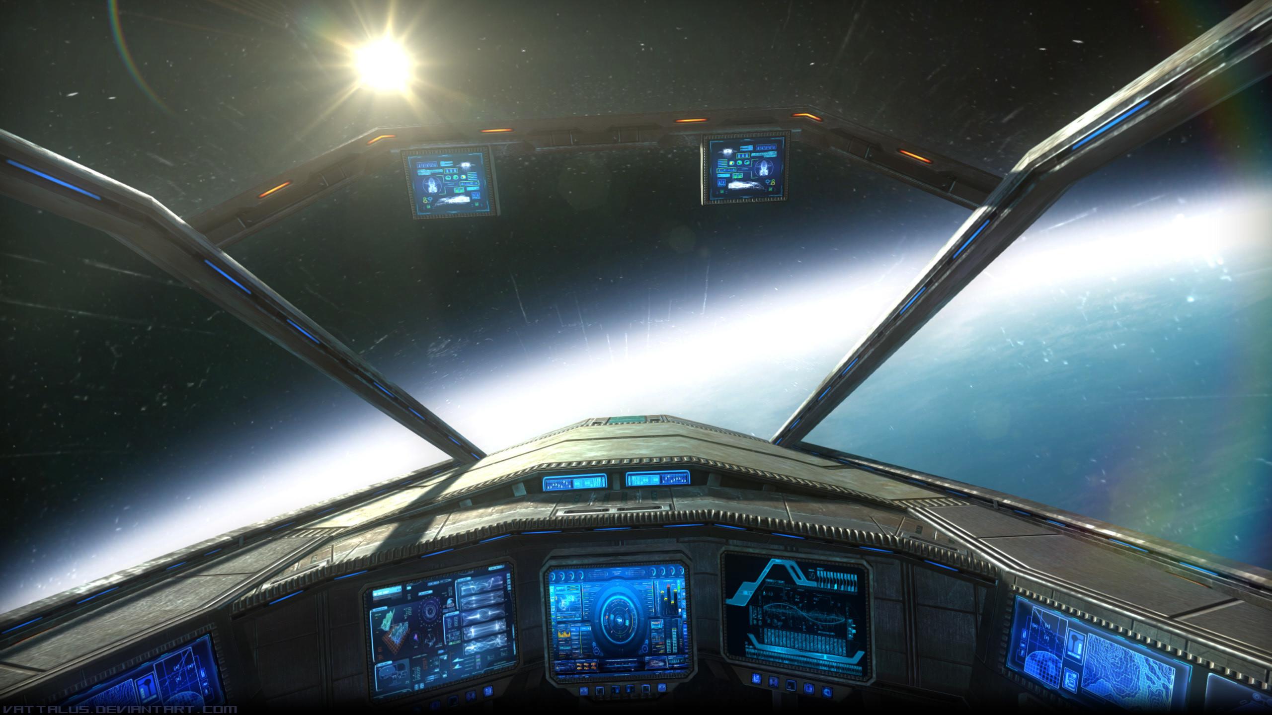Fantasy Wallpaper, sci-fi, spaceship, space, panel – HD Wallpapers .