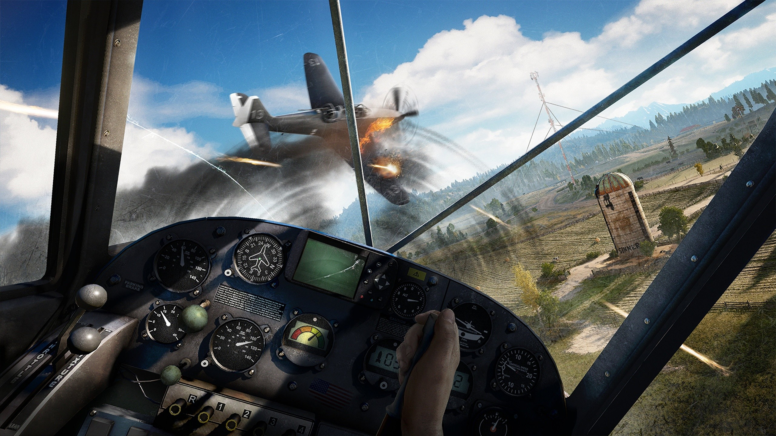 Pictures Far Cry 5 Airplane Cockpit Games Flight 2560×1440