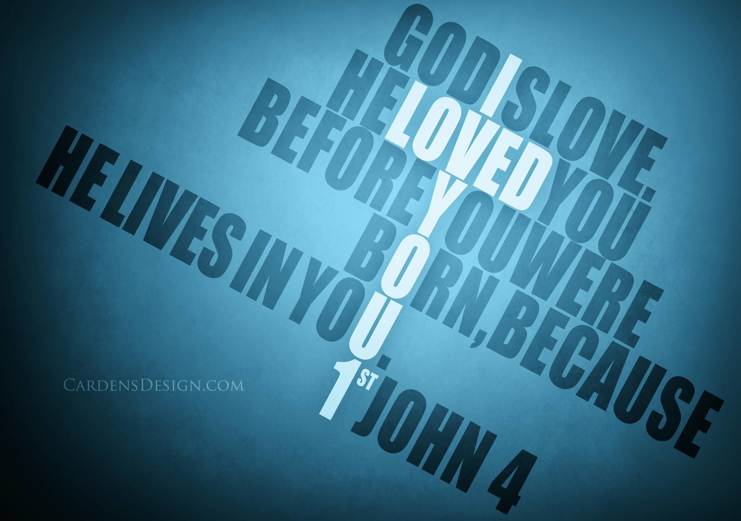 God Is Love Graphic HD Wallpaper | Christian Wallpapers