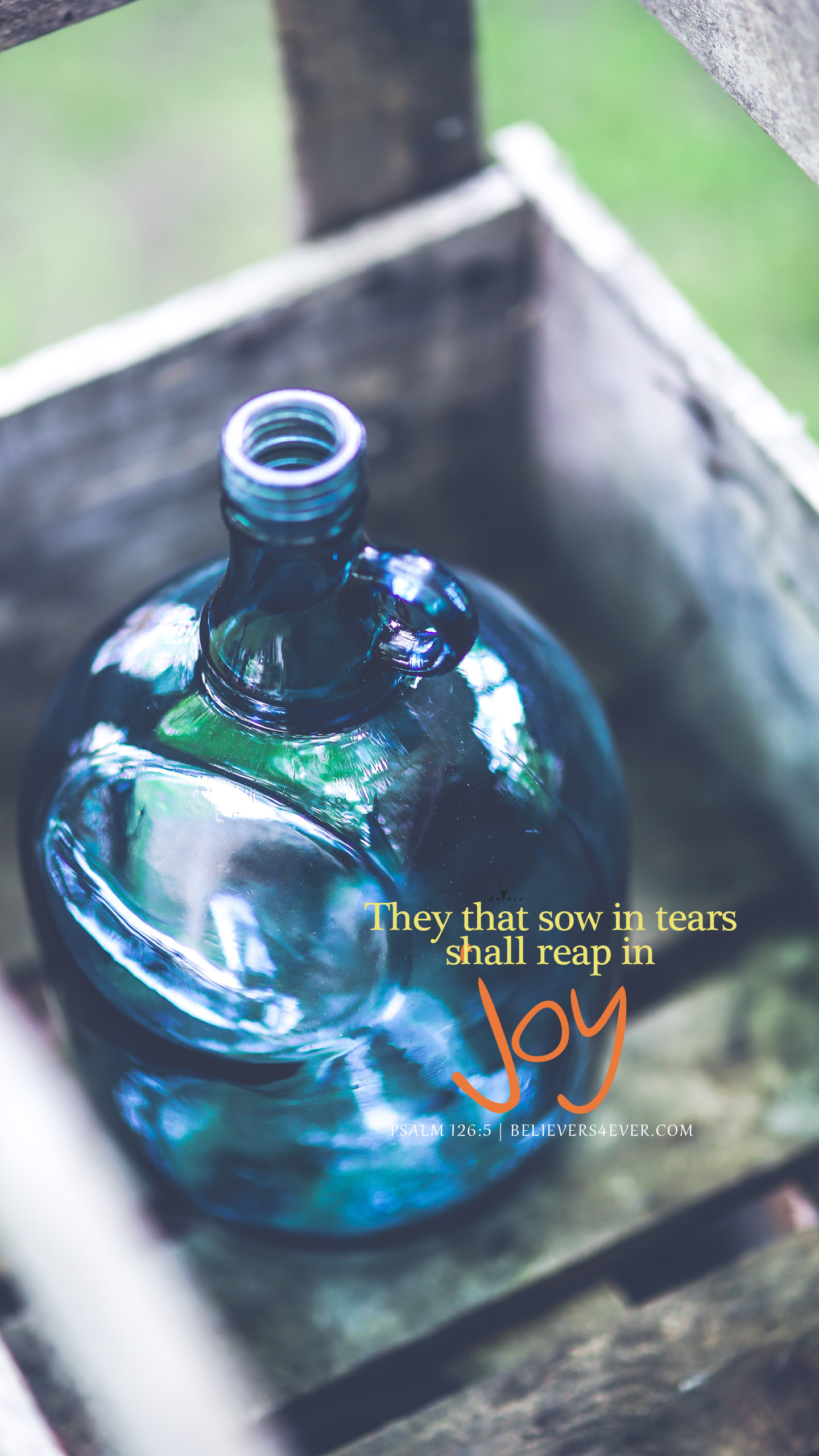 They that sow in tears shall reap in joy. Psalm Android and iphone Christian  mobile phone wallpaper with scripture.