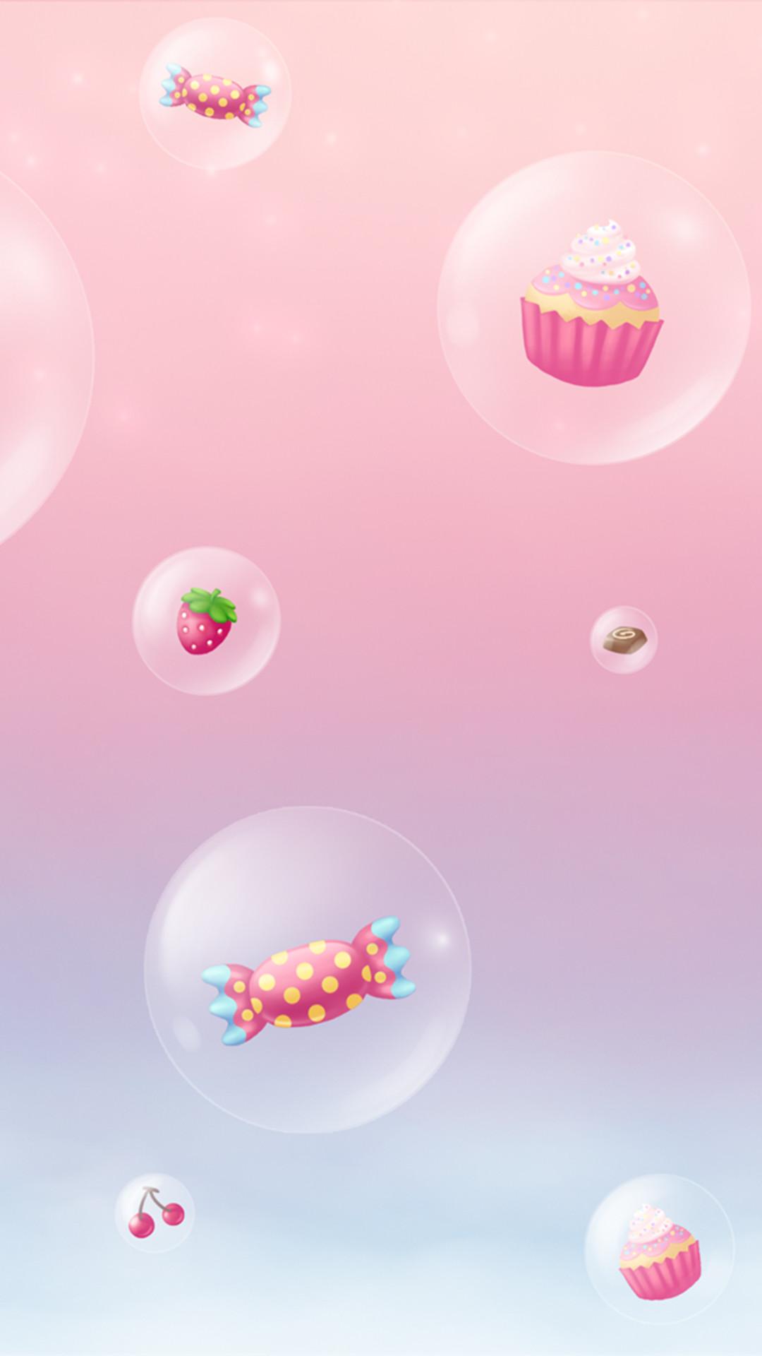 Girly cute iPhone6s wallpaper : cupcakes