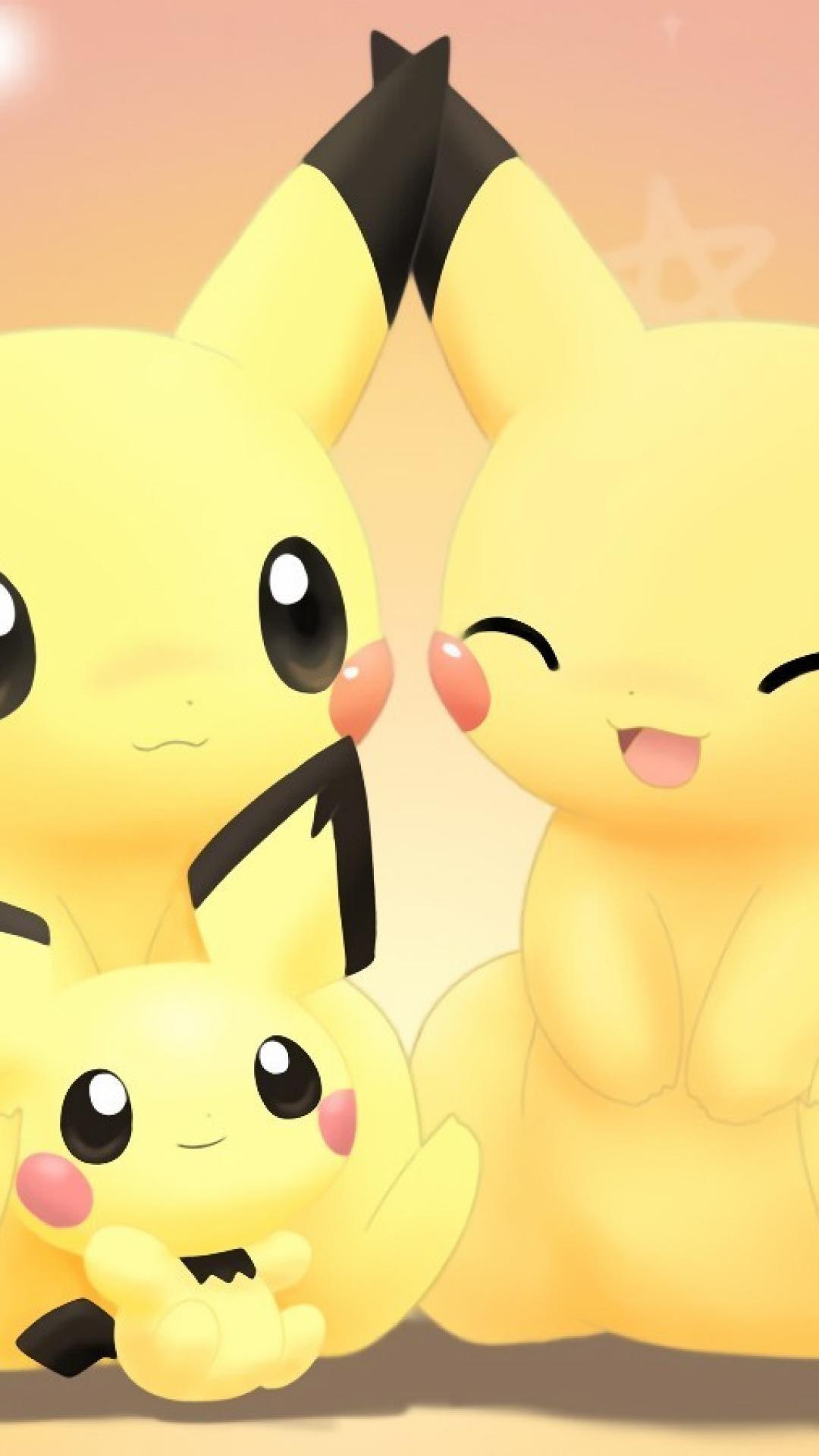 Pokemon cute Pikachu girly love iphone 6 plus wallpaper.