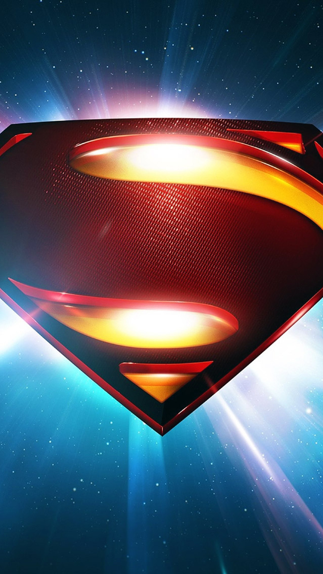 Superman Space Logo Man Of Steel iPhone 6 wallpaper