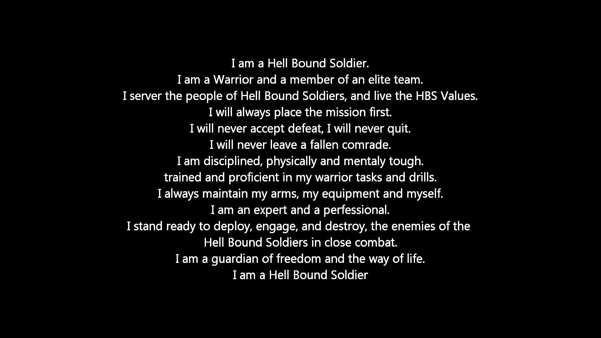 Hell Bound Soldiers Creed – YouTube