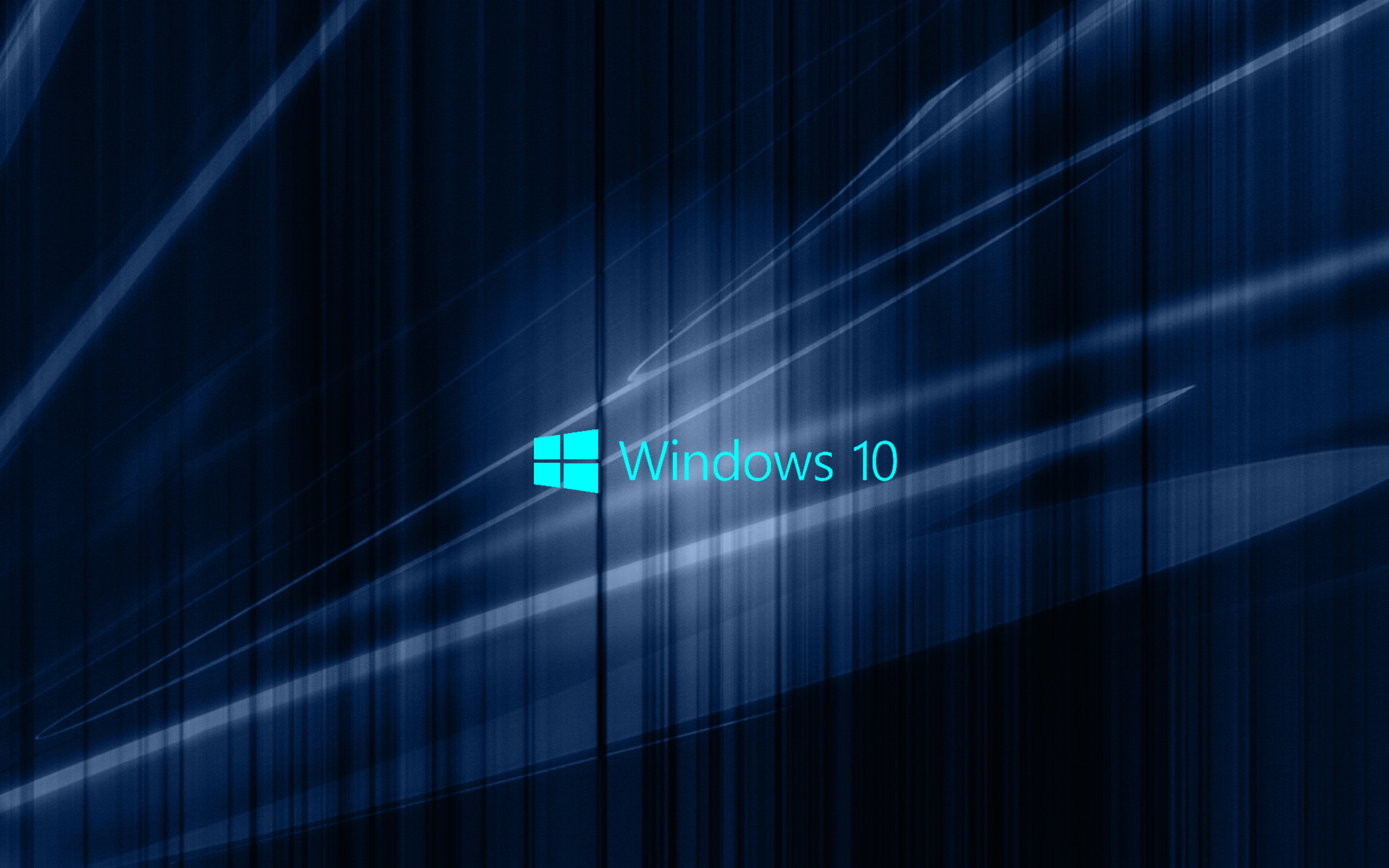 Windows 10 Wallpaper with Blue Abstract Waves   HD Wallpapers for Free