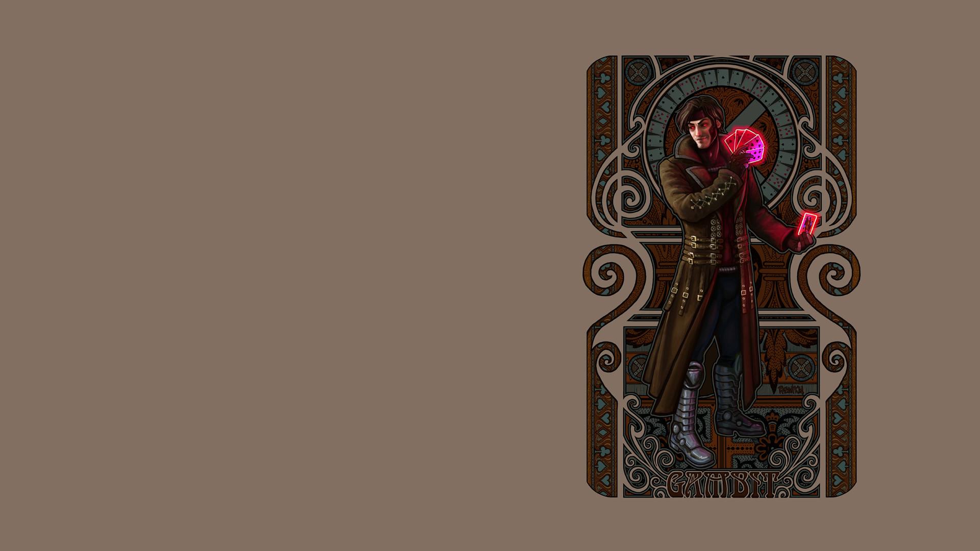 Men Gambit Wallpaper XMen, Gambit, Artwork