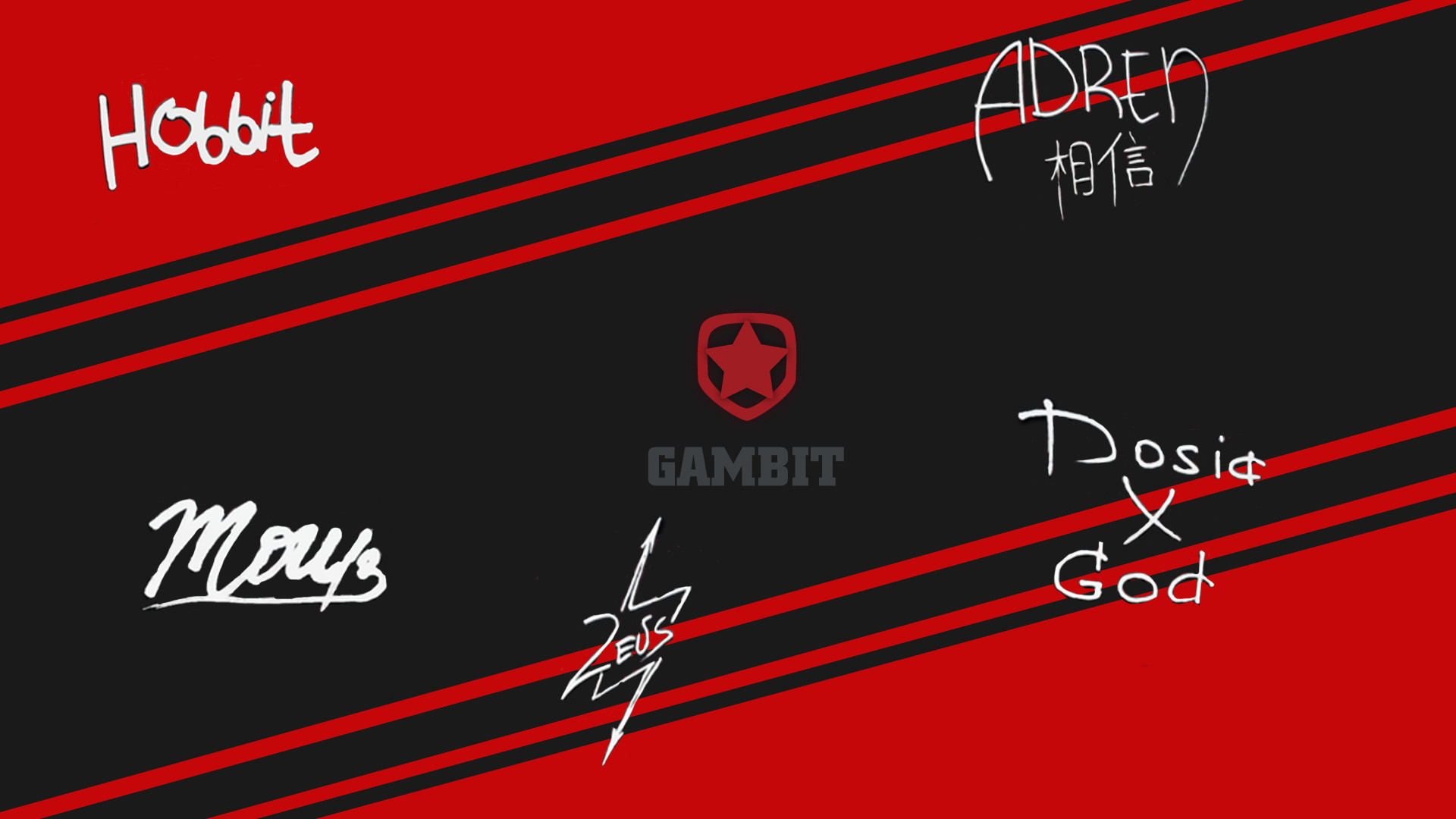 Gambit Gaming player autograph(off) by Ronofar