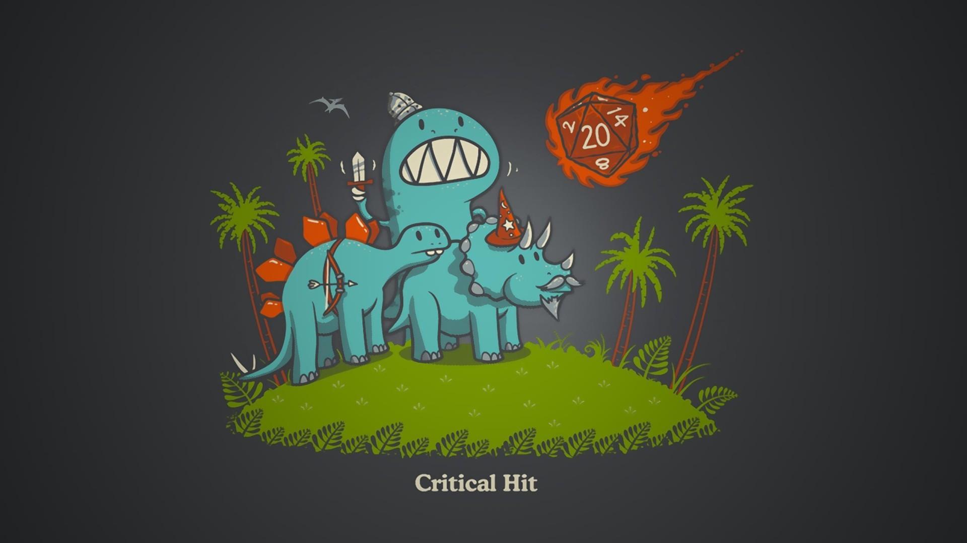 Cute Critical Hit Dinosaurs D&D adventurer t-shirt