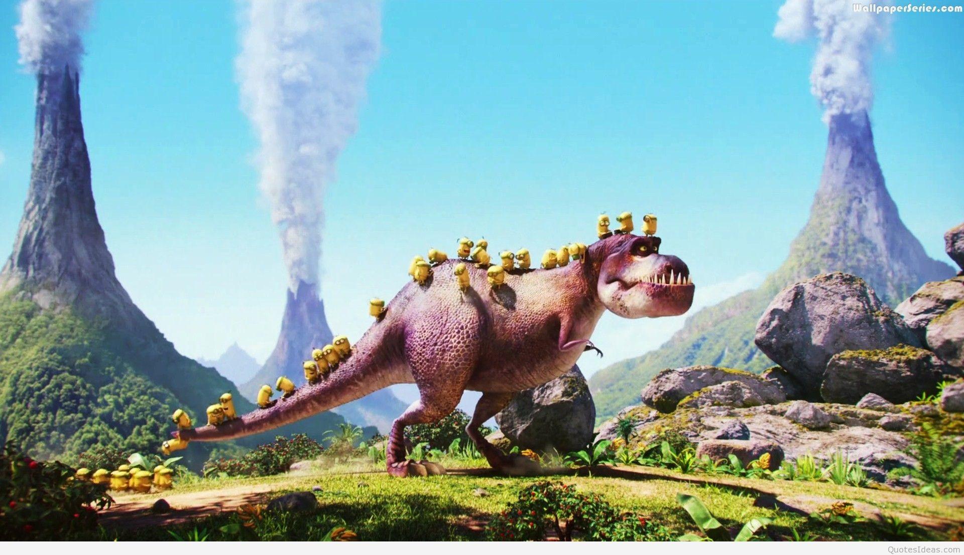 … Dinosaur-In-Minions-Wallpaper-7484