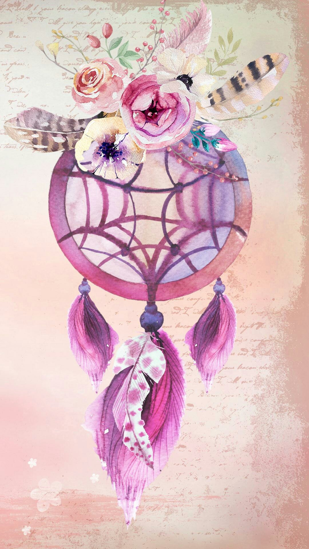 Pink and gold dreamcatcher