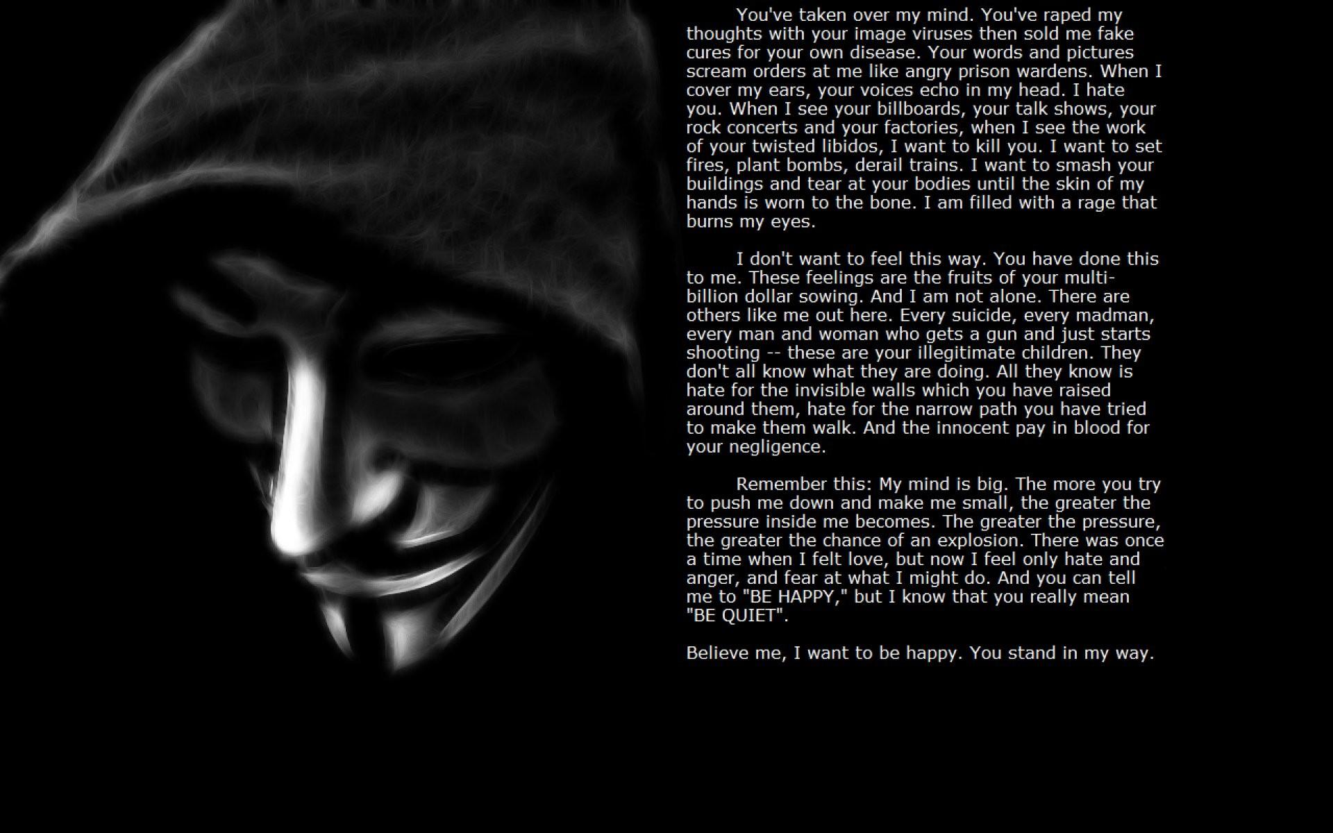 Anonymous Mask Sadic Dark Anarchy Hacker Hacking Vendetta Wallpaper At Dark  Wallpapers