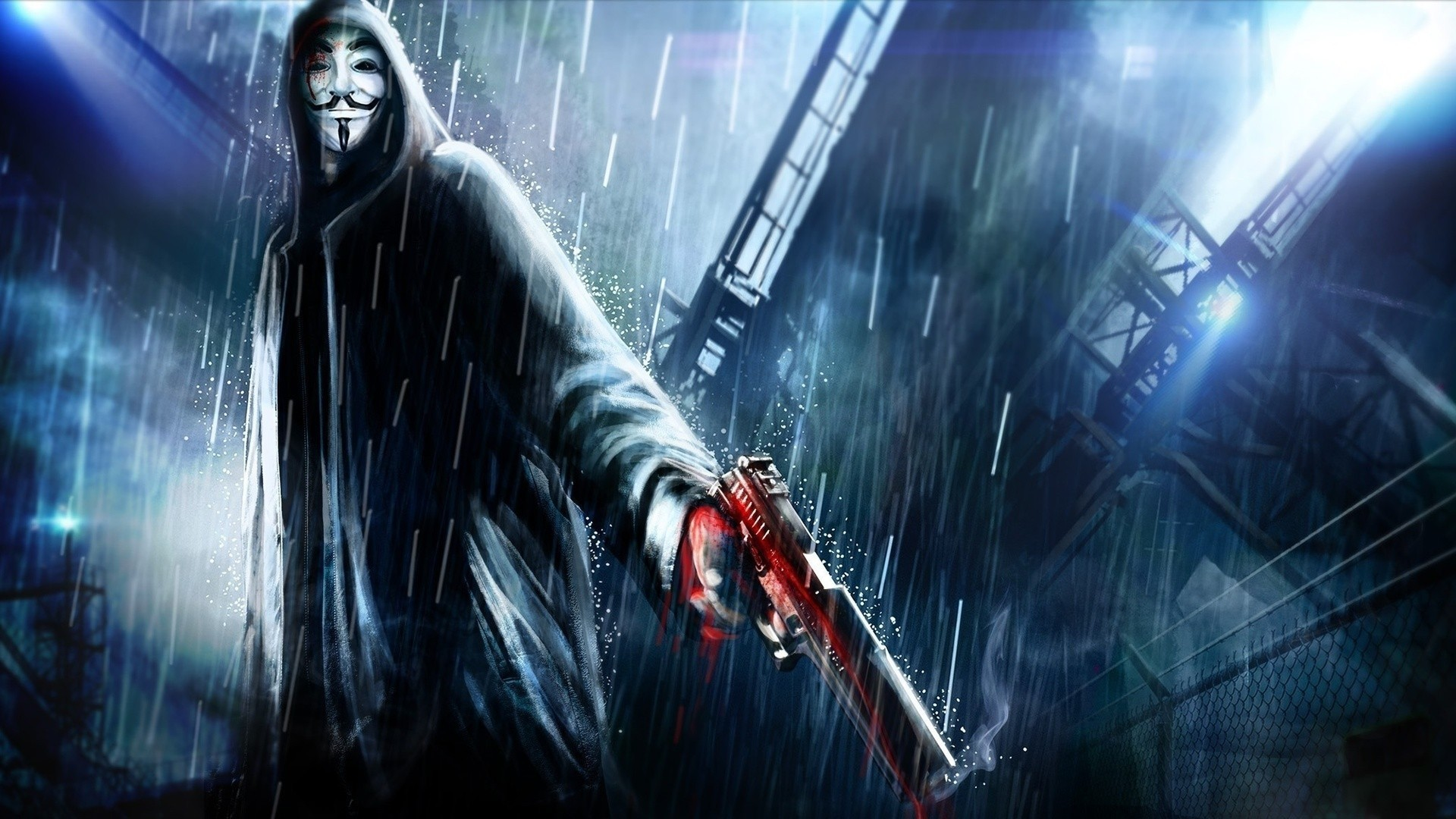 Anonymous, Anonims, Machine Gun Wallpapers HD / Desktop and Mobile  Backgrounds