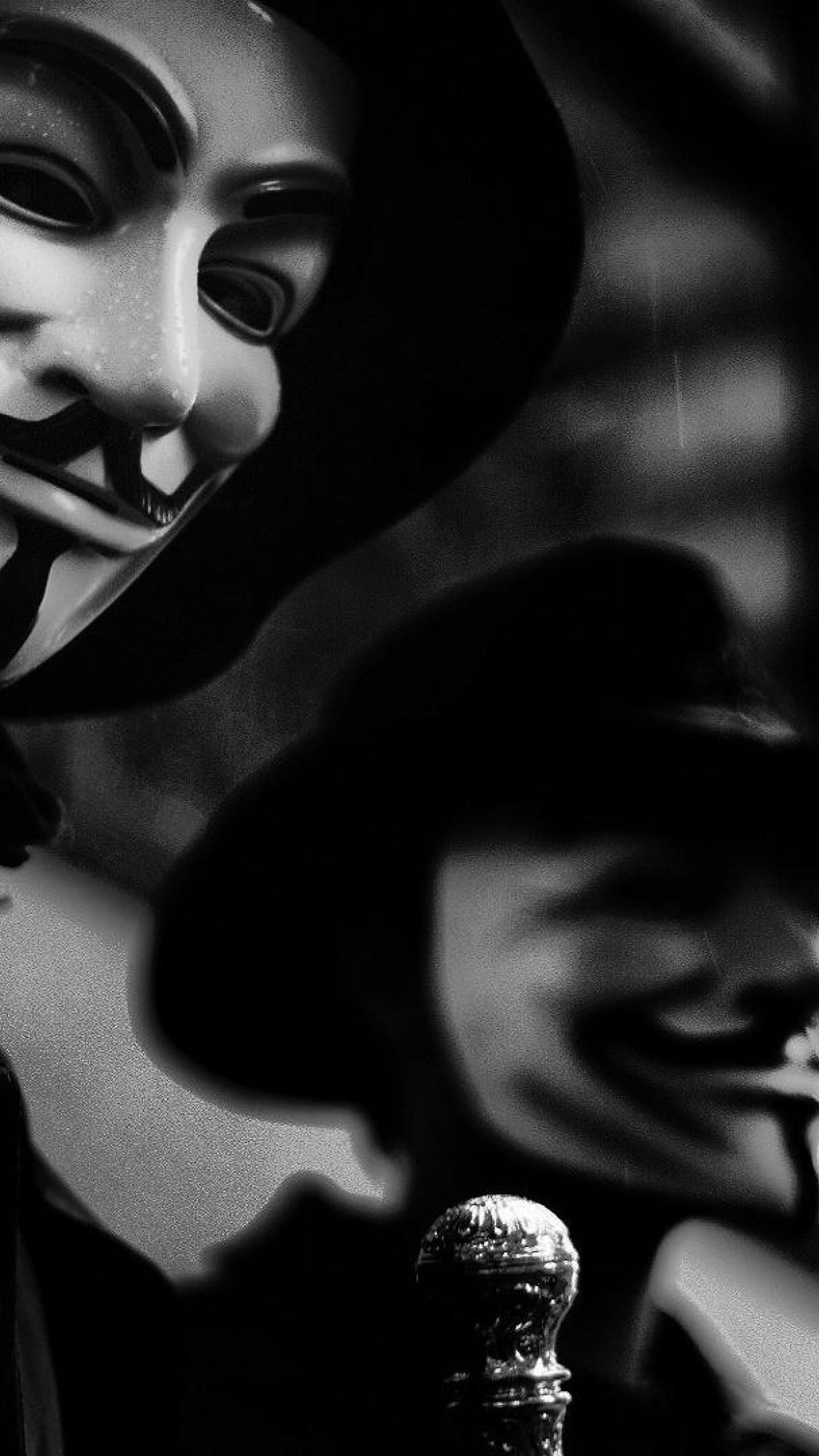 Anonymous Masks Galaxy S6 Wallpaper (1440×2560)