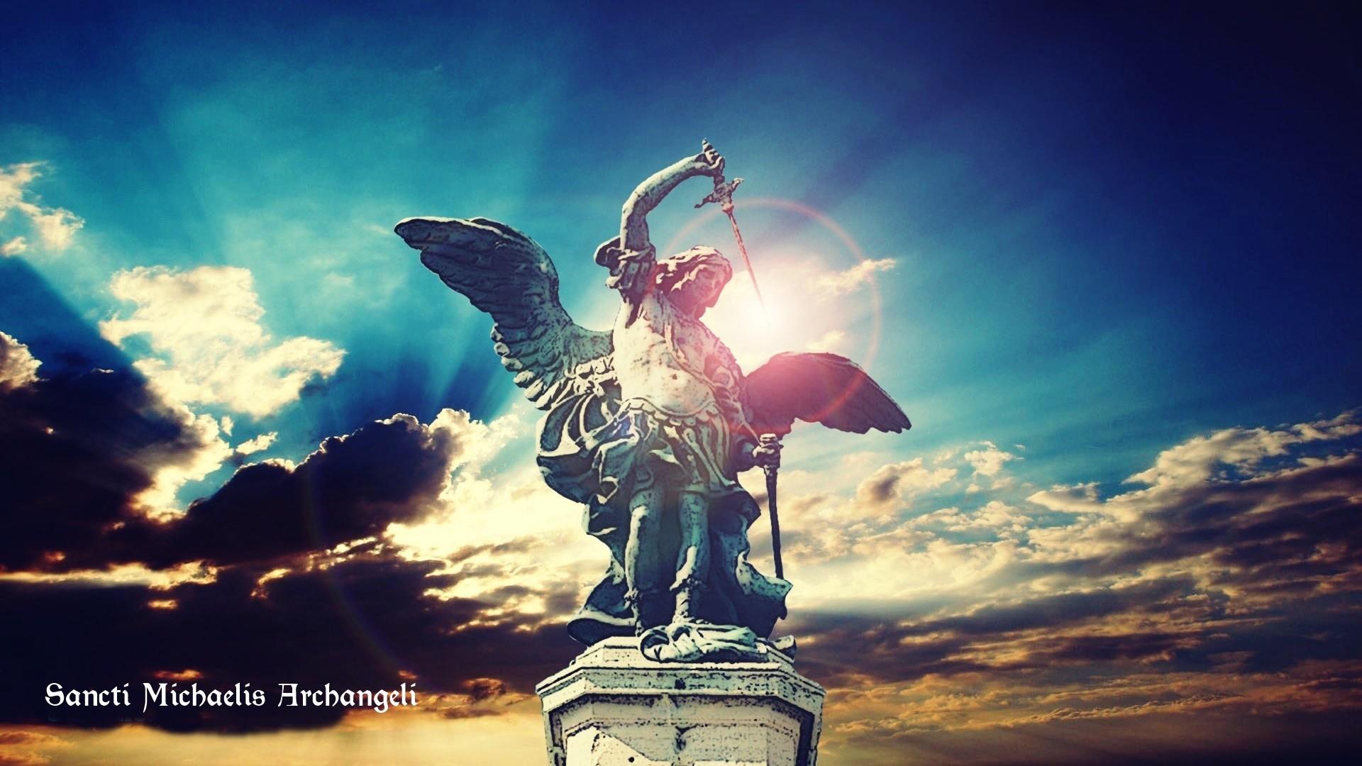 st michael archangel, Sky, Lights, Sword, Angel Wallpapers HD / Desktop and  Mobile Backgrounds