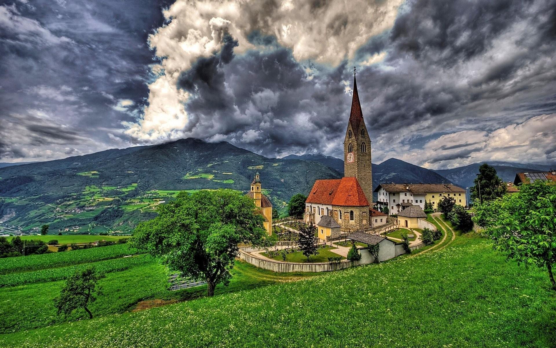 bressanone brixen italy saint michael church alps brixen bressanone italy  church of san michele alps mountain
