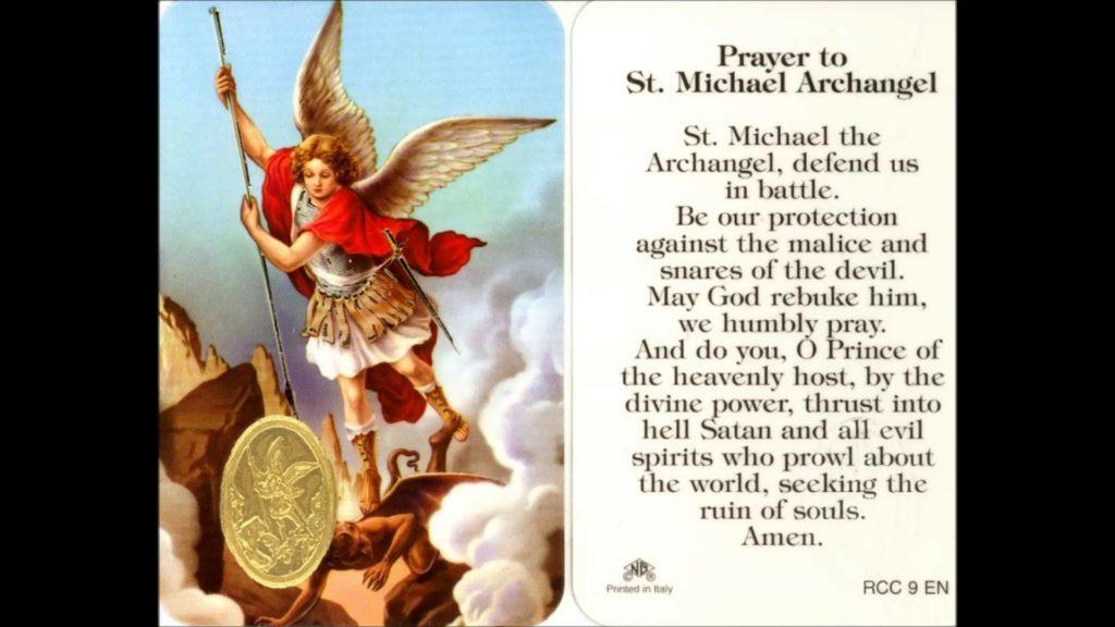 Prayer to St. Michael the Archangel