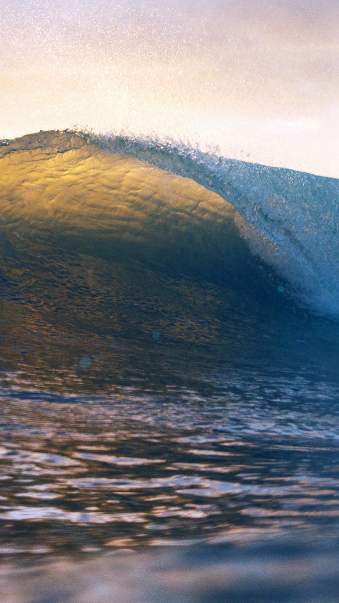 Wave Summer Nature Sea Blue #iPhone #7 #wallpaper