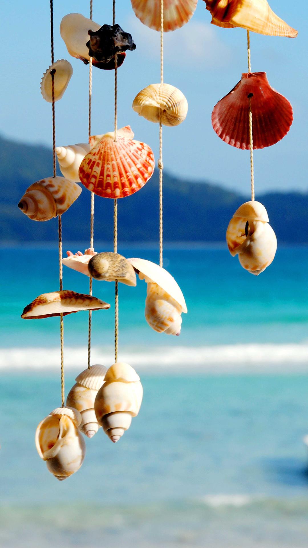 ↑↑TAP AND GET THE FREE APP! Art Creative Sea Sky Water Shells Blue. App WallpaperSummer  WallpaperIphone …