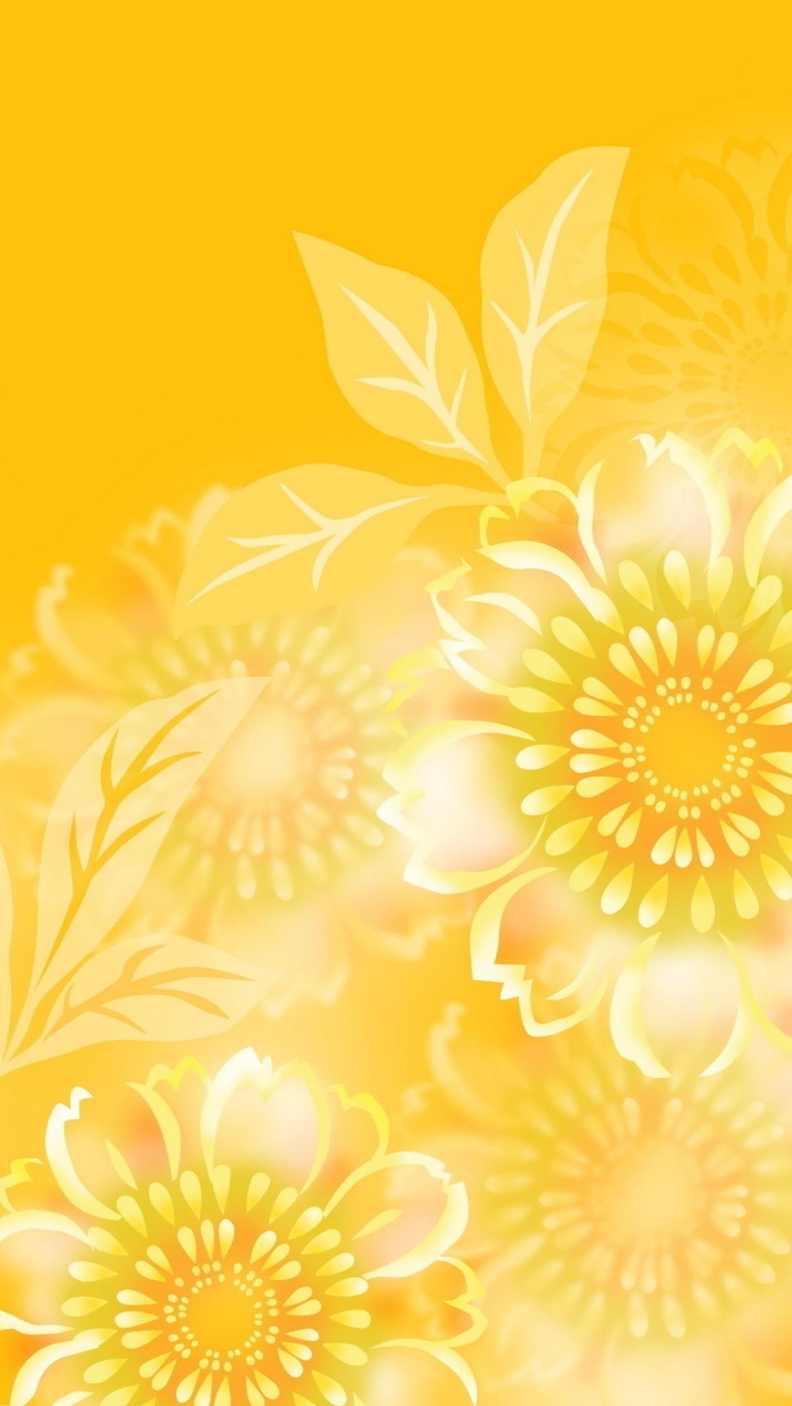 Обои iPhone wallpapers yellow summer
