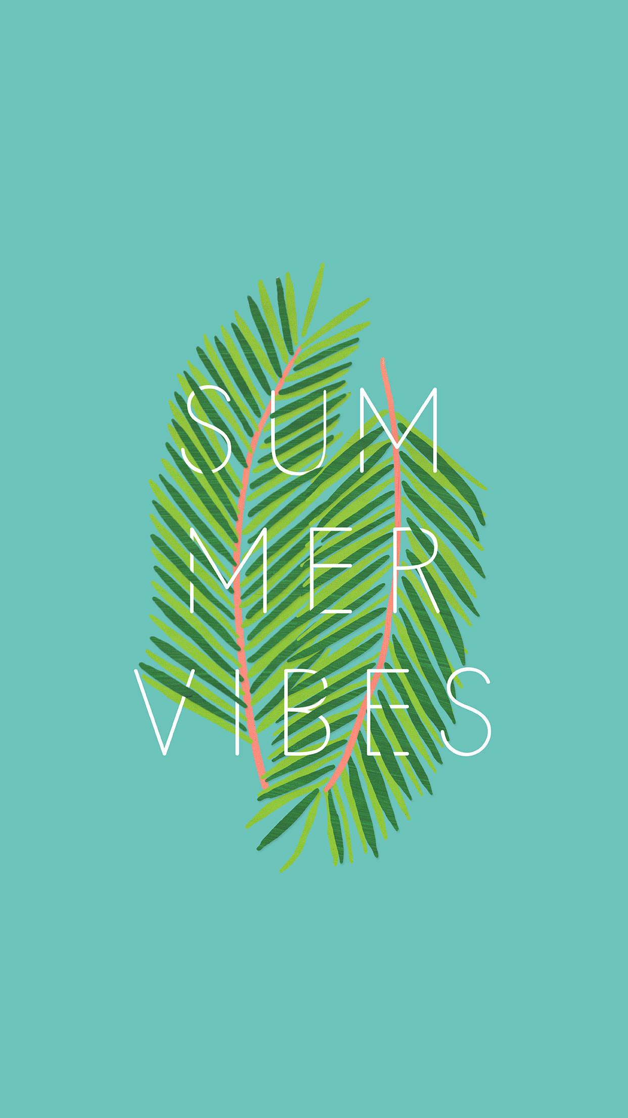 Summer Vibes iPhone 6 plus Wallpaper (Aqua) · summer_vibes_wallpaper_iphone  thebannerie_SummerVibes_pink_desktop
