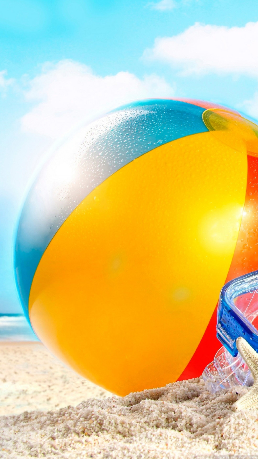 Beachball In Sand Summer iPhone 6 Plus HD Wallpaper …