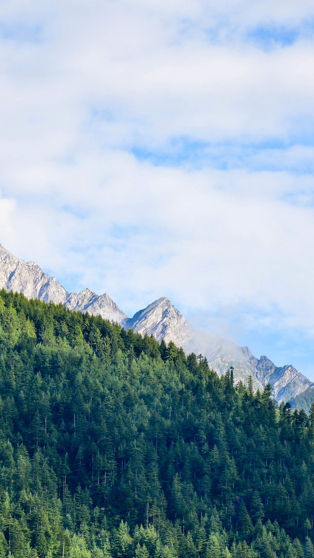 Nature Mountain Sky Blue Green Sunny Summer iPhone 8 wallpaper